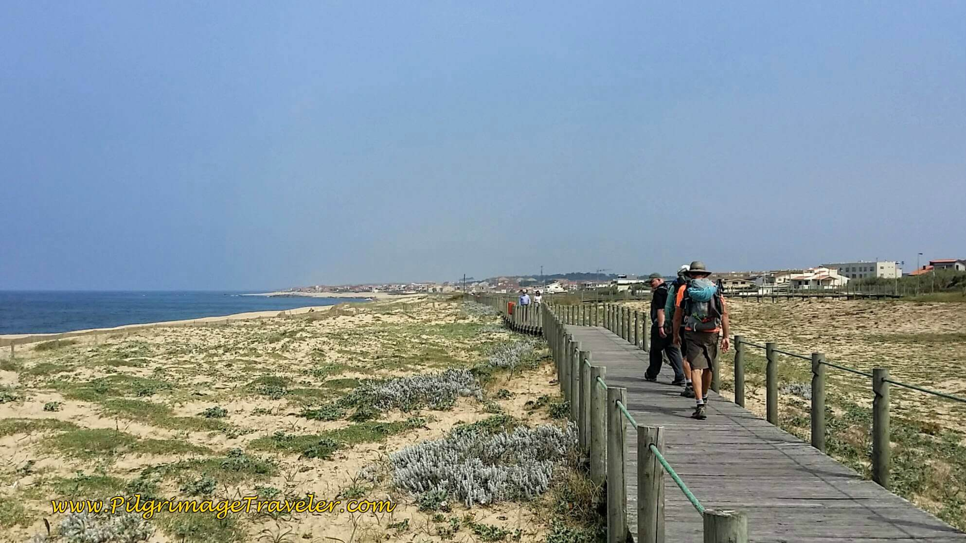 Boardwalk to Praia da Funtão in Lavra, Portugal on day fifteen of the Camino Portugués on the Senda Litoral