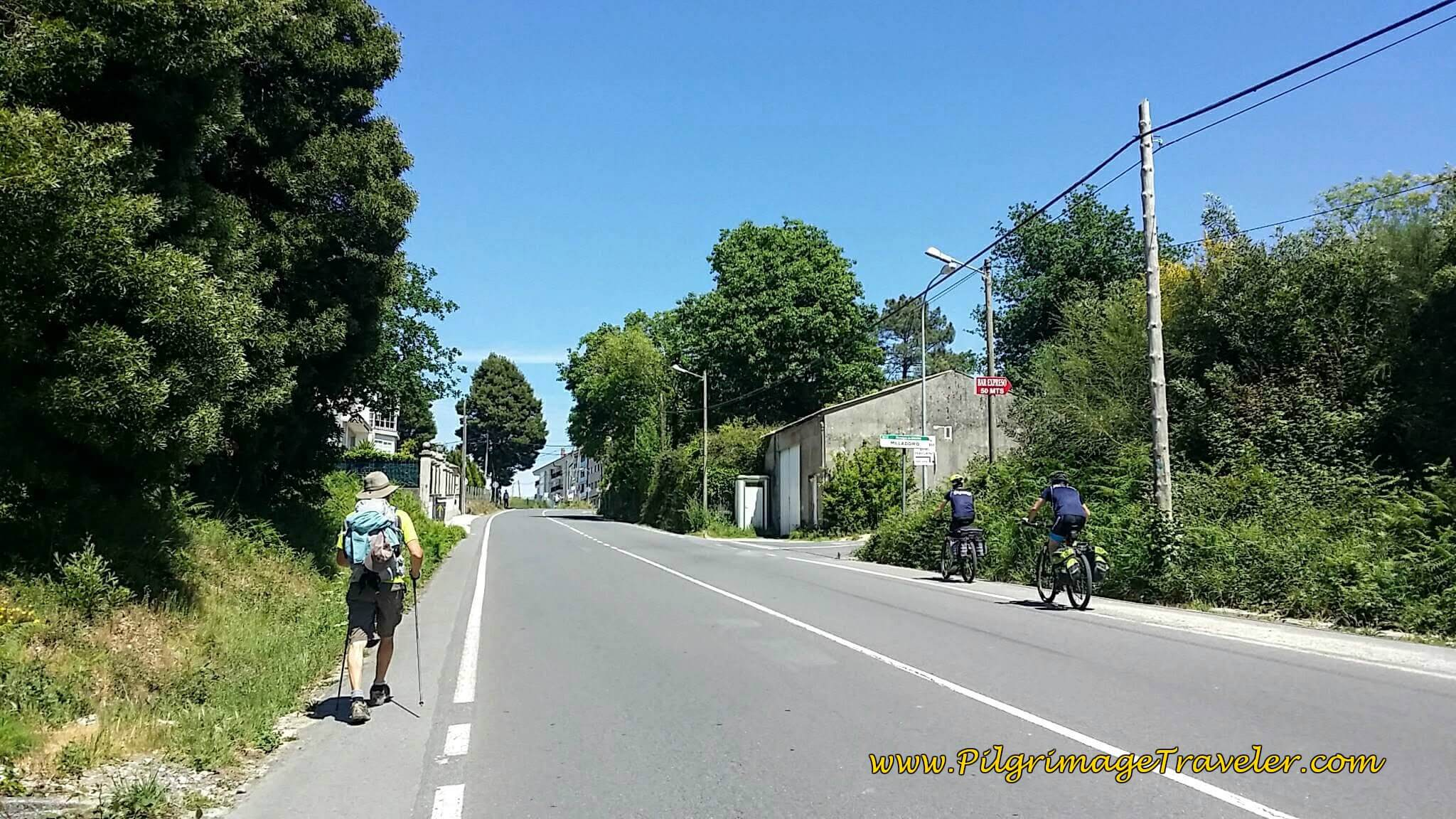Long Climb on the DP-0206 toward Milladoiro on Day Twenty-Four, Portuguese Camino