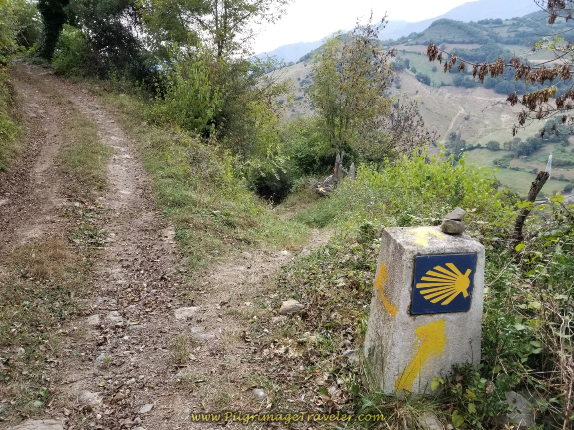 Right Turn Onto Path Near Campomanes