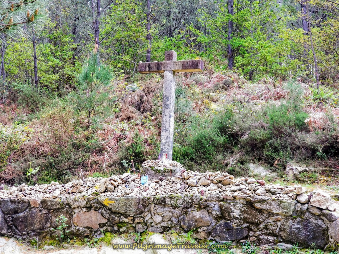 Cross, One Kilometer After the Top on day eighteen on the Central Route of the Portuguese Camino