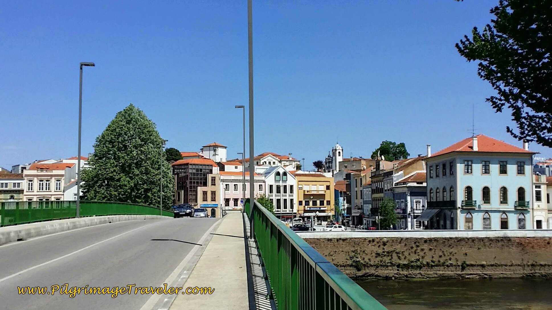 The Bridge over the River Águeda that walks into town on day eleven of the Portuguese Camino.