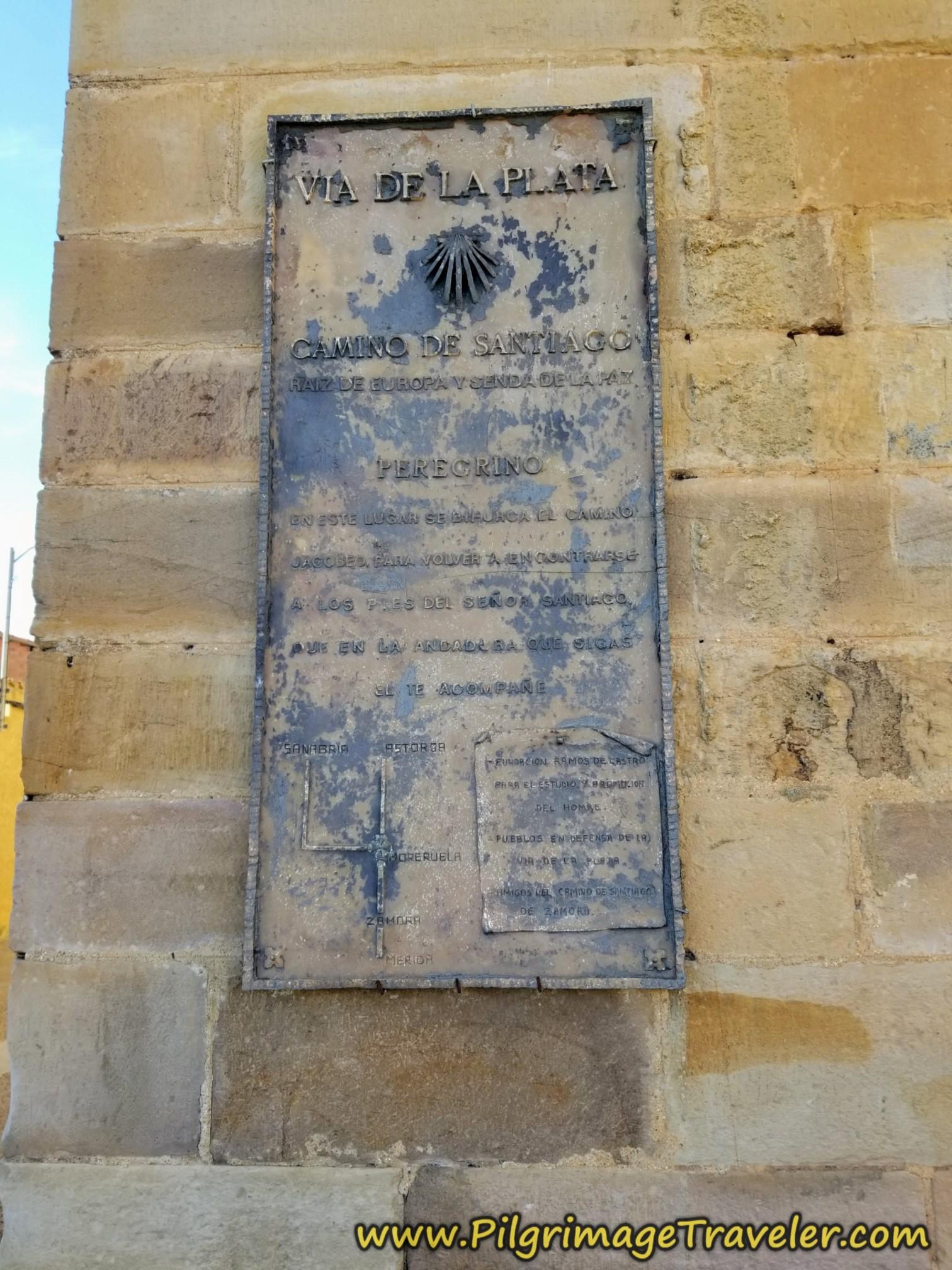 Old Vía de la Plata Placard