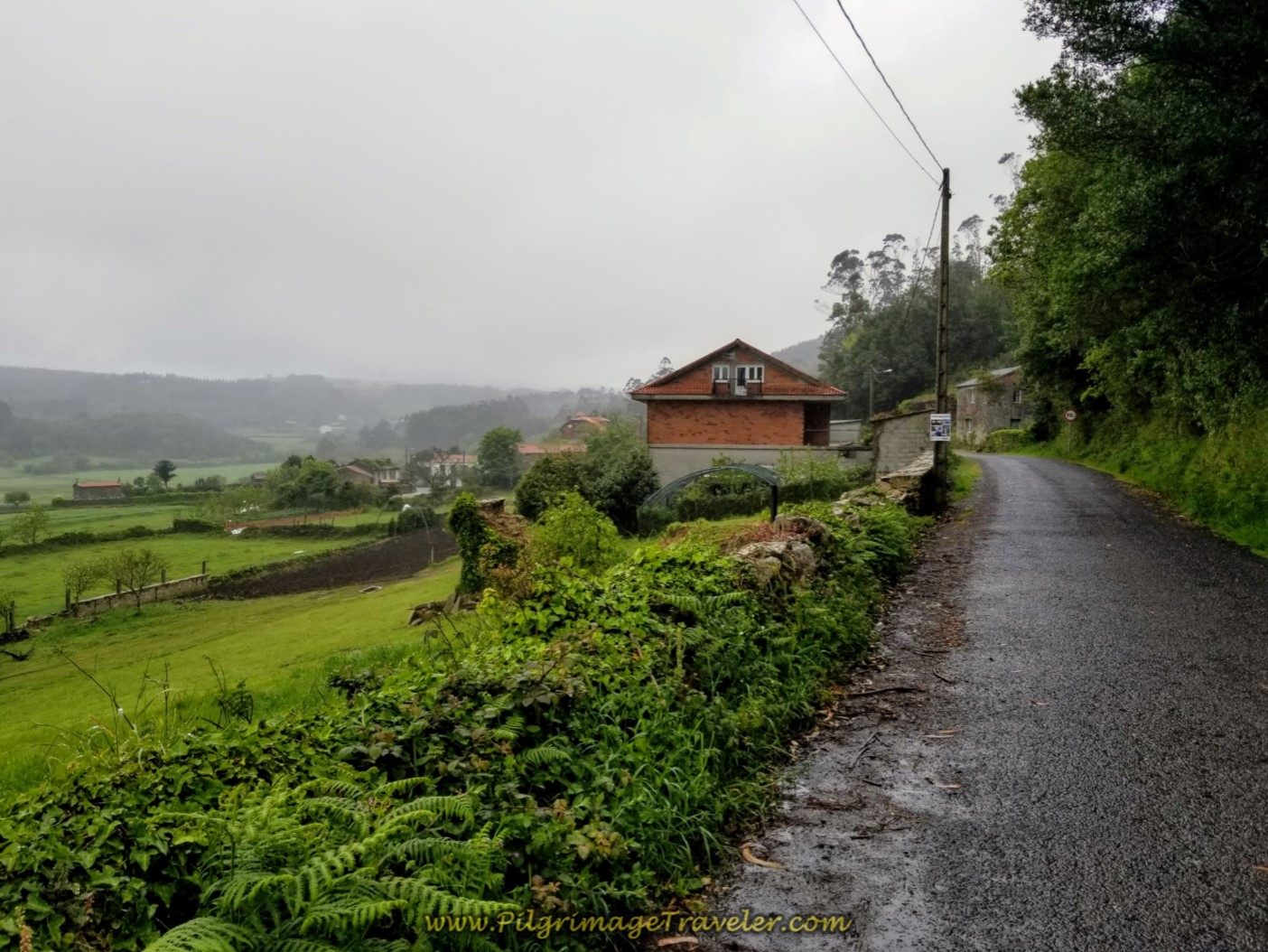 The Town of Morquintián on the Camino Finisterre to Muxia