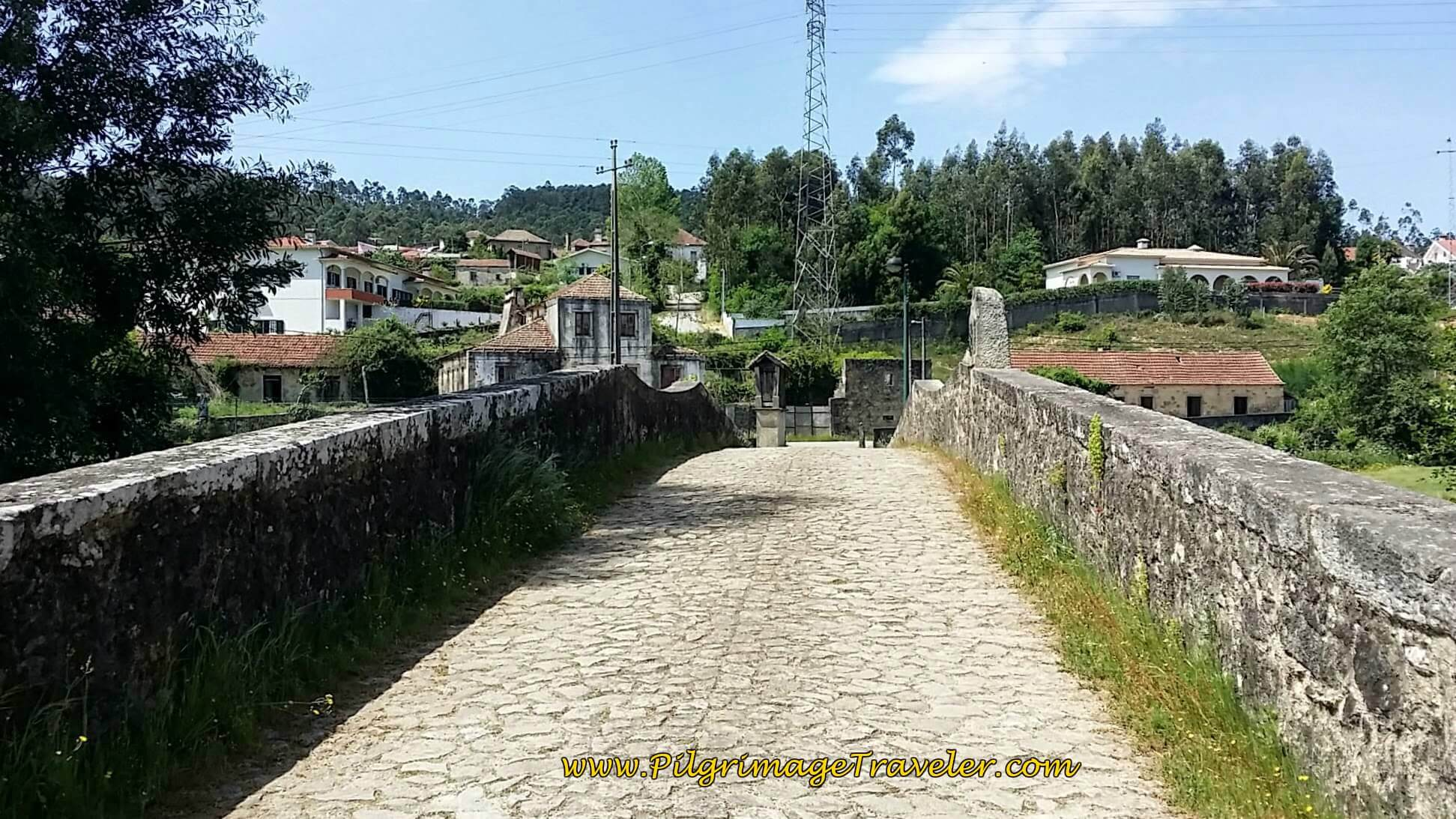 Cobblestone Road Across the Medieval Bridge on day thirteen of the Camino Portugués