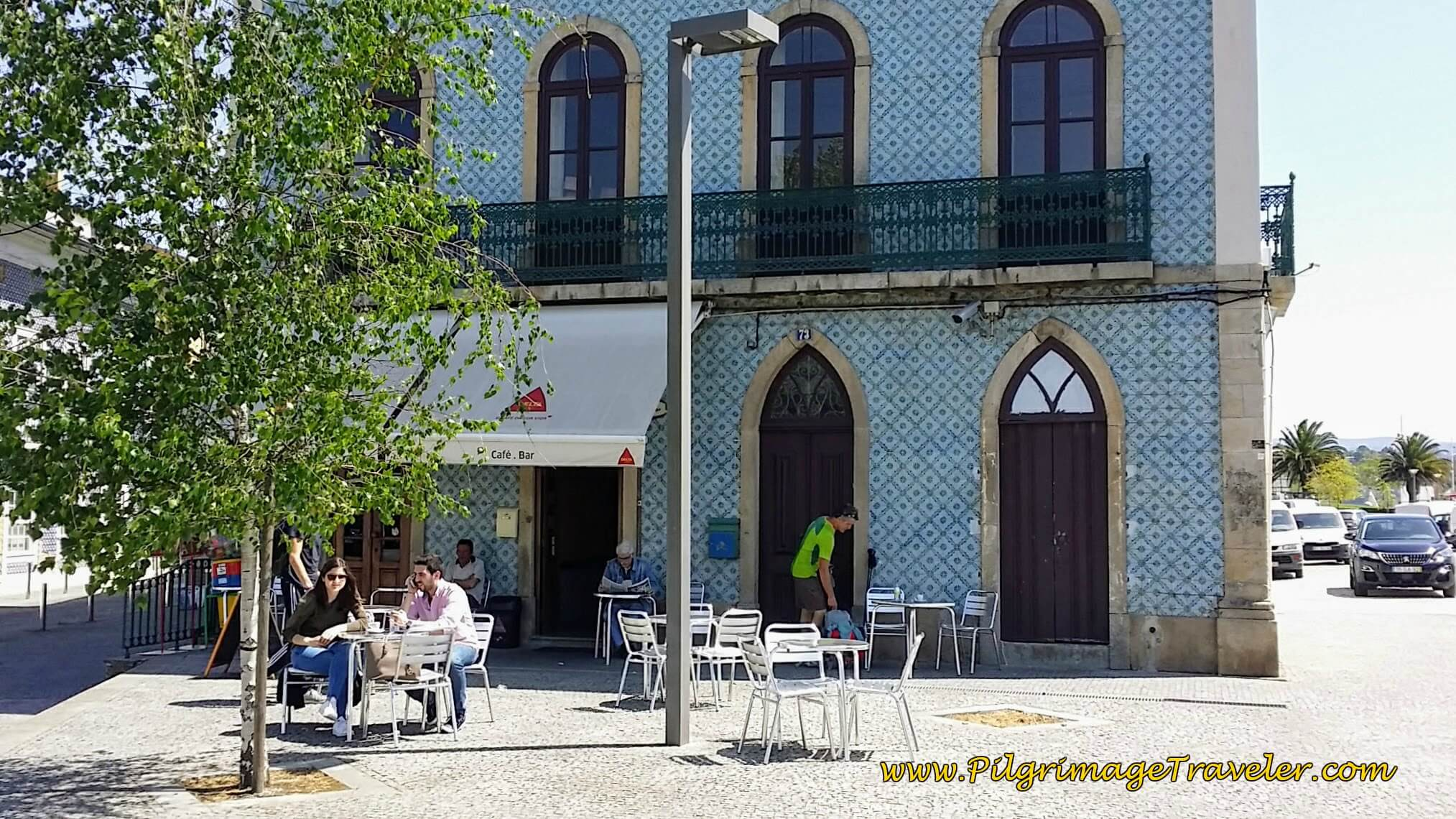 Café Bar Gambuzinos Along the Rio Águeda, a place for a nice break on day eleven of the Camino Portugués