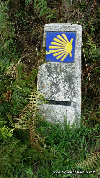 The 68 Kilometer Waymark Achieved on Day Ten, Camino Primitivo
