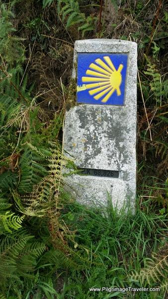 The 68 Kilometer Waymark Achieved on Day Ten, Camino Primitivo