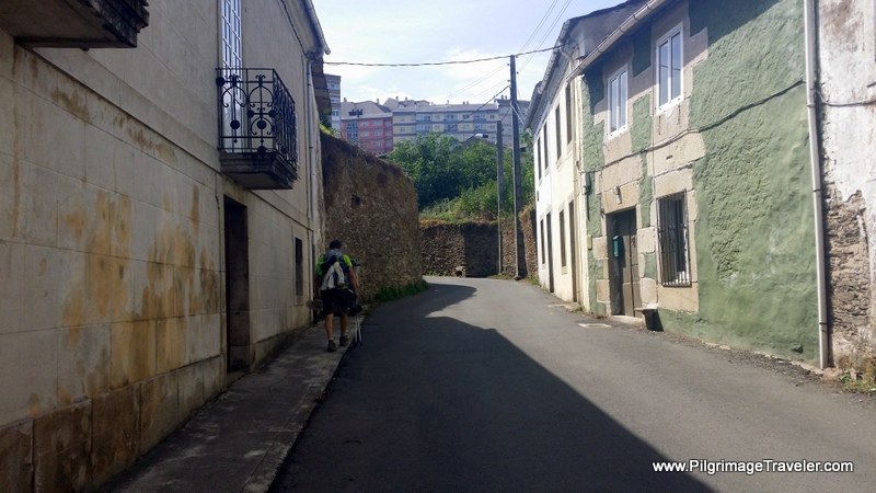 Walking Up the Hill On the Other Side into Lugo, Spain