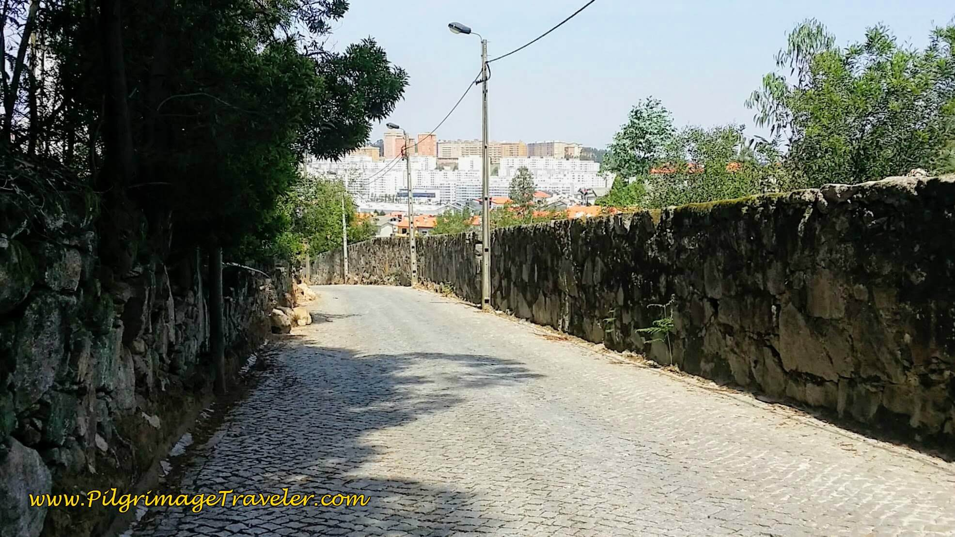 Rua Mirante in Canelas, First Glimpse of Porto on day fourteen of the Camino Portugués