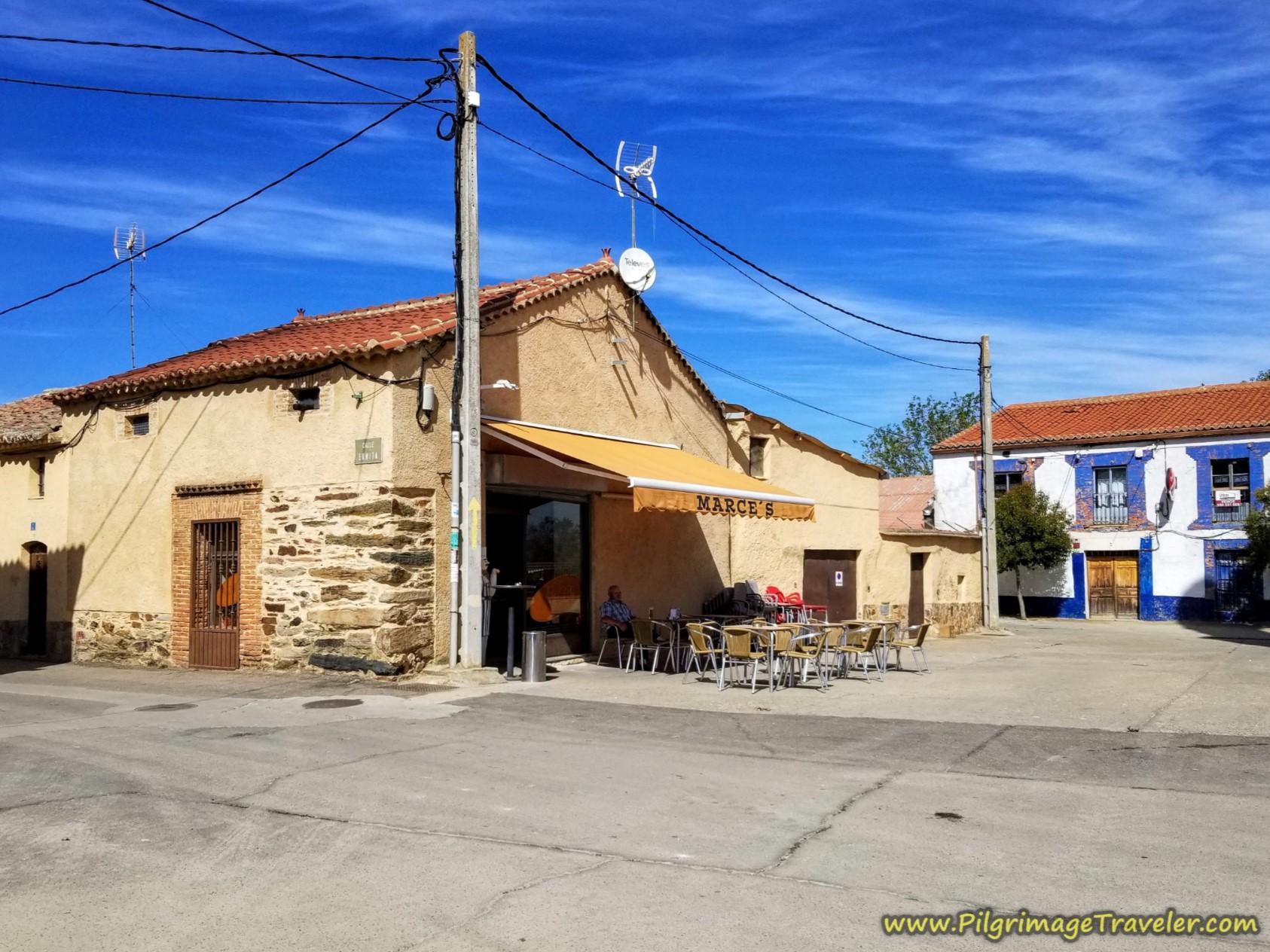Café Bar Marce's on the Vía de la Plata from Zamora to Montamarta