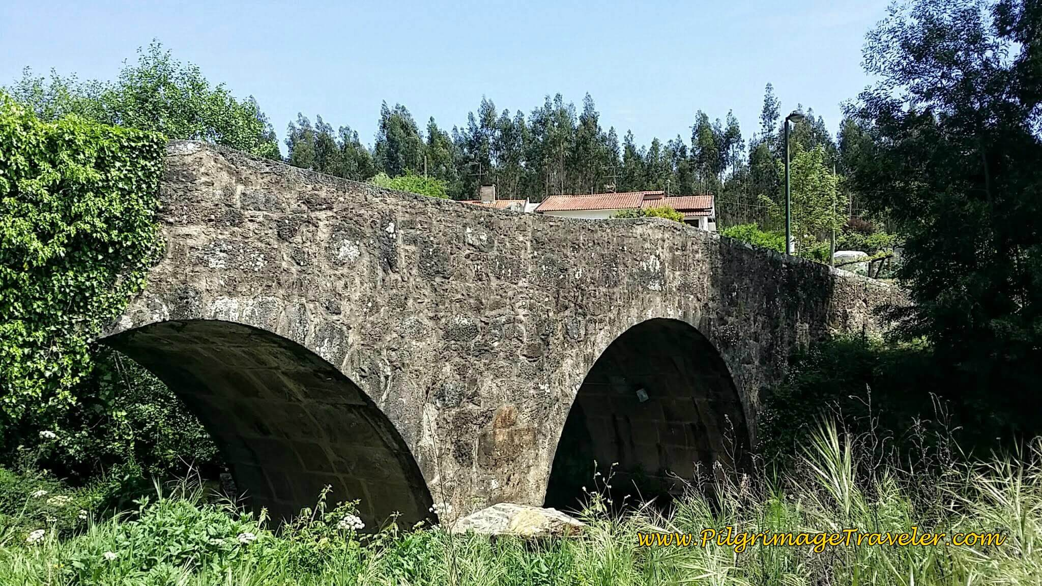 Close-Up of Medieval Bridge on day thirteen of the Camino Portugués