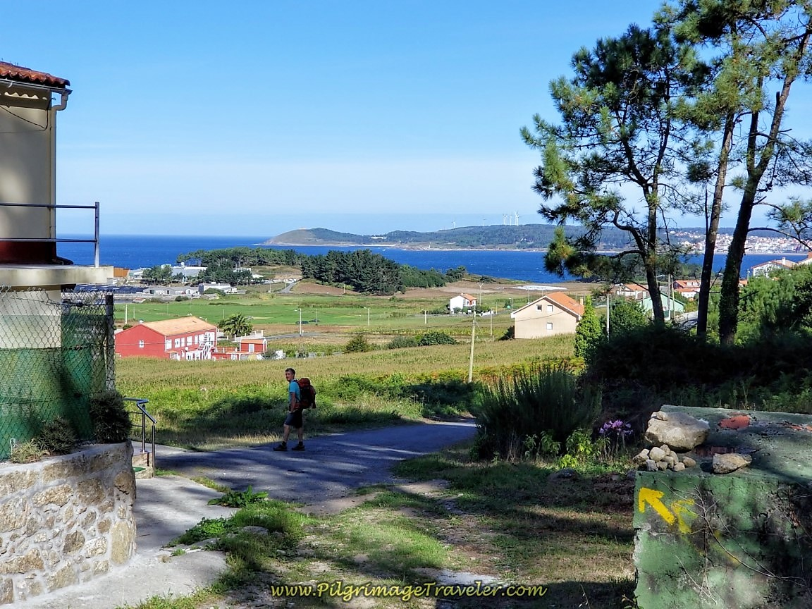 Entering Merexo on day three of the Camino Finisterre to Muxía