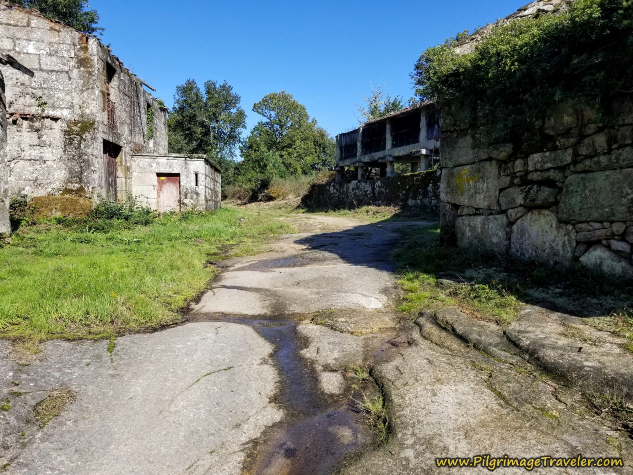 Ancient Road and Ruined Buildings