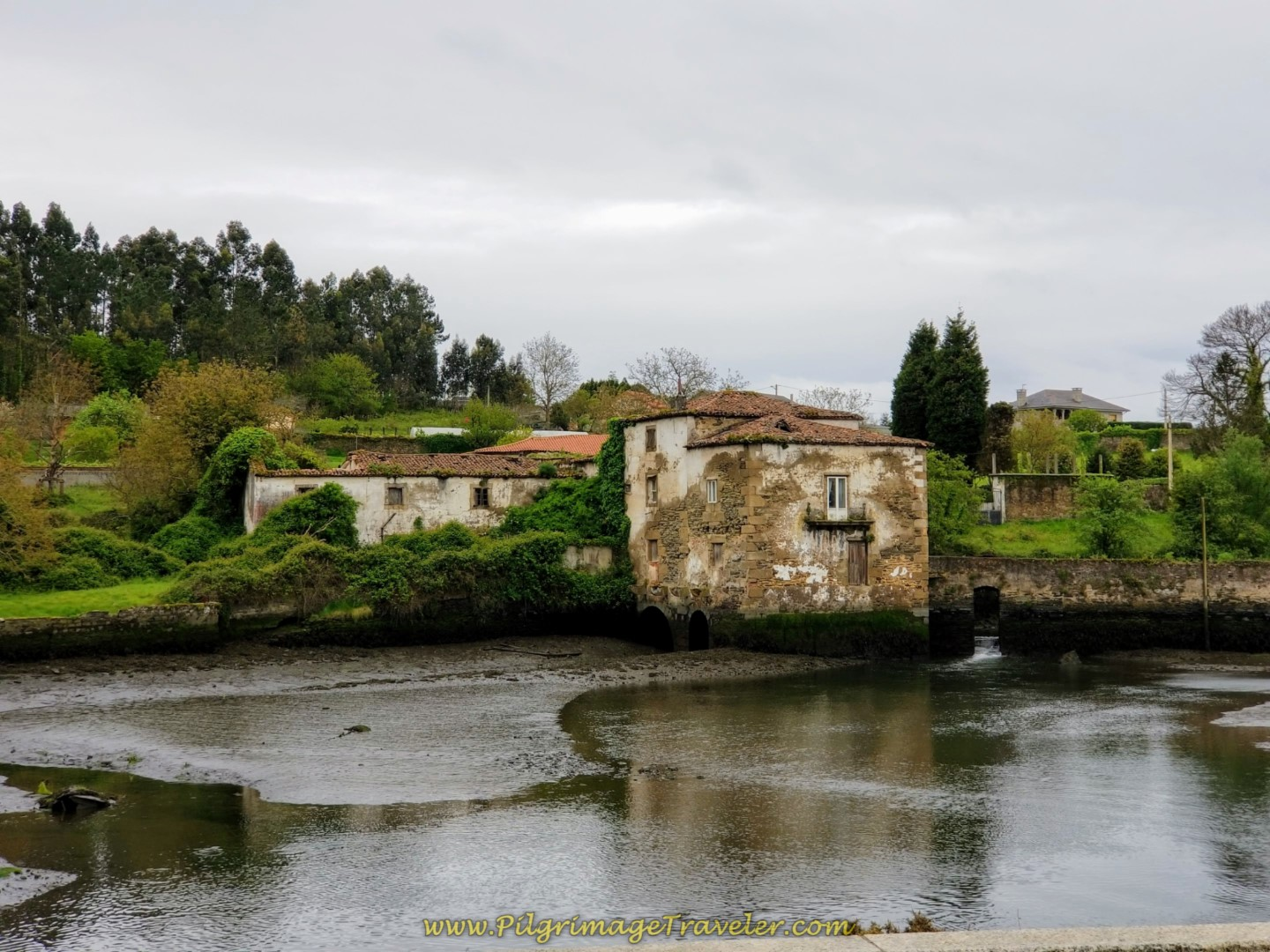 Old Watermill Across the Ría de Ferrol on day one of the English Way