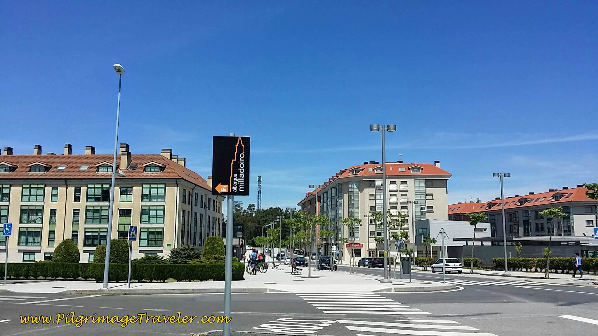 Sign for the Albergue Milladoiro on Day Twenty-Four, Portuguese Camino