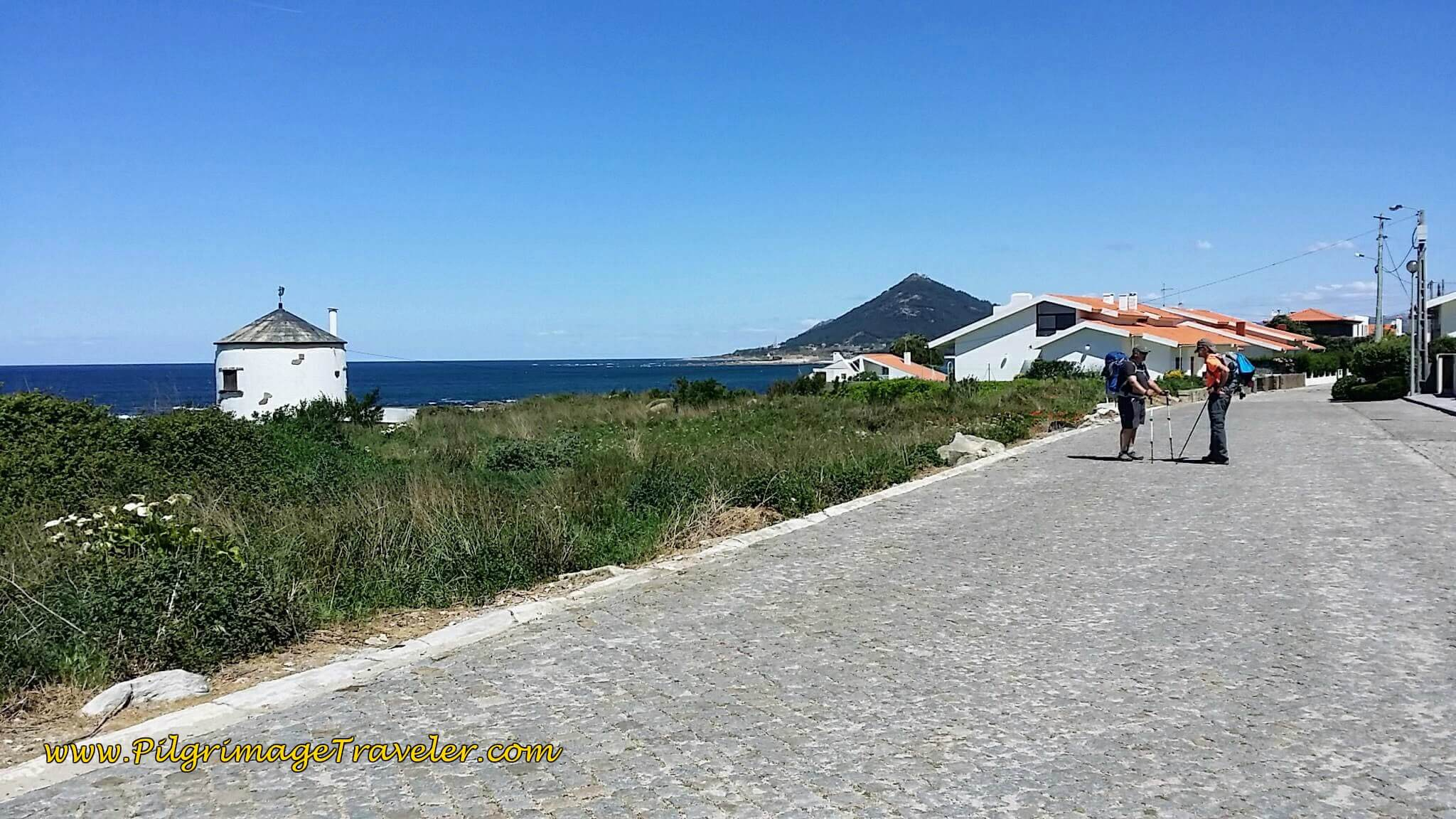 Walking Toward Moledo on day eighteen of the Camino Portugués on the Coastal Route