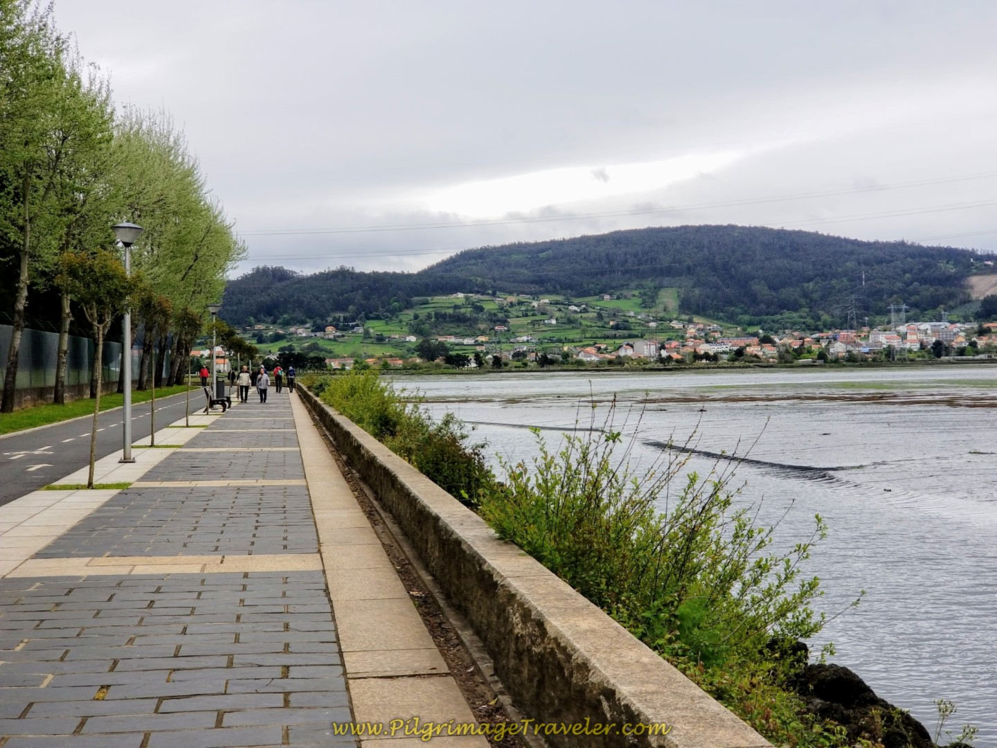 The Riverside Promenade Toward Neda on day one of the English Way