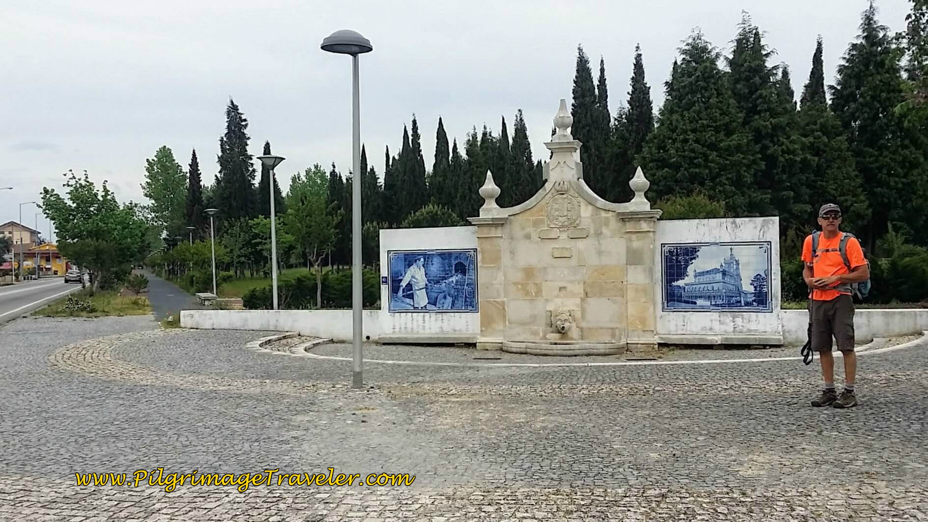 Left Turn on the Avenida Floresta by Murals on day ten of the Portuguese Way