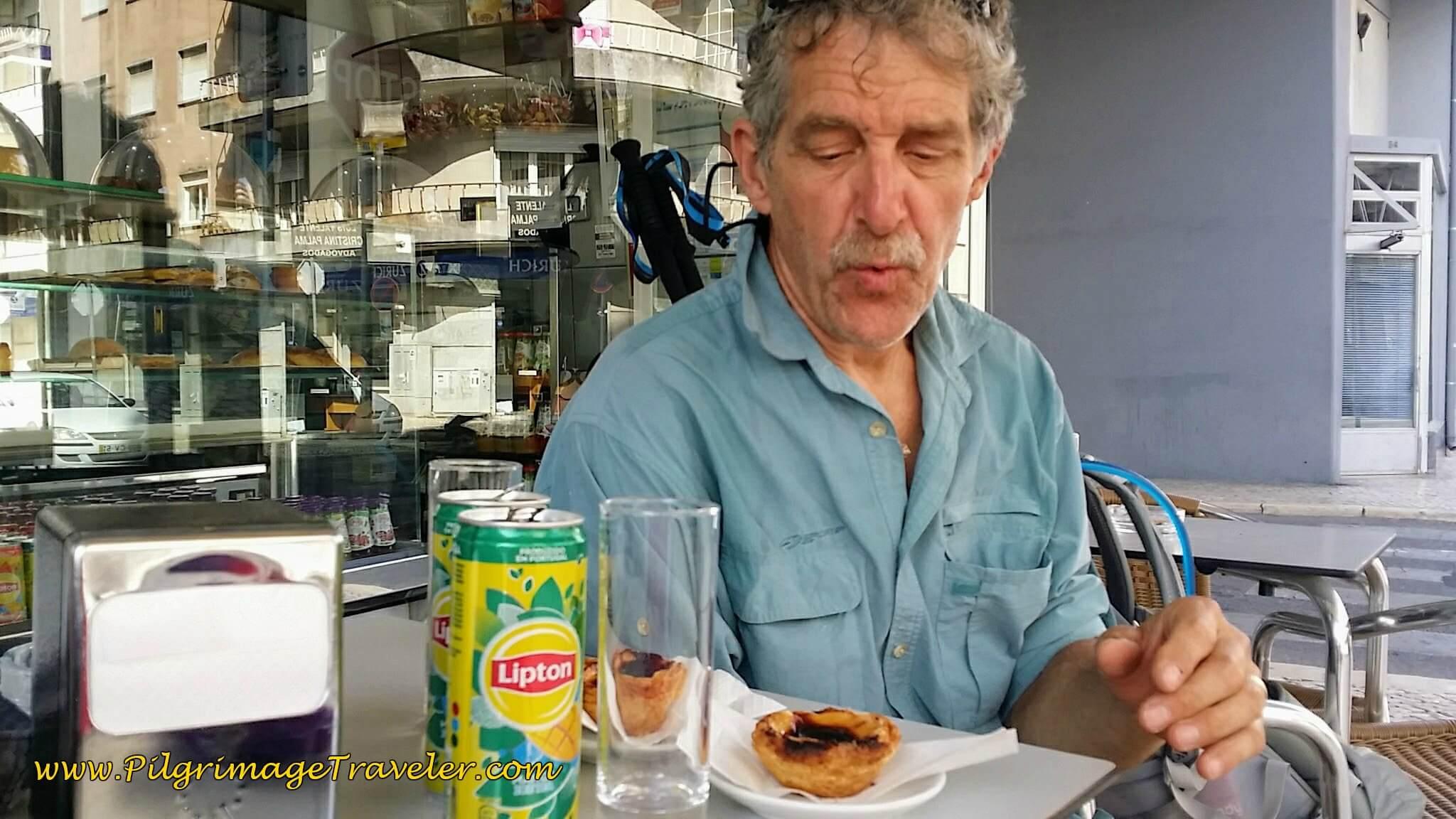 Tea and Nata Break in Santarém, Portugal