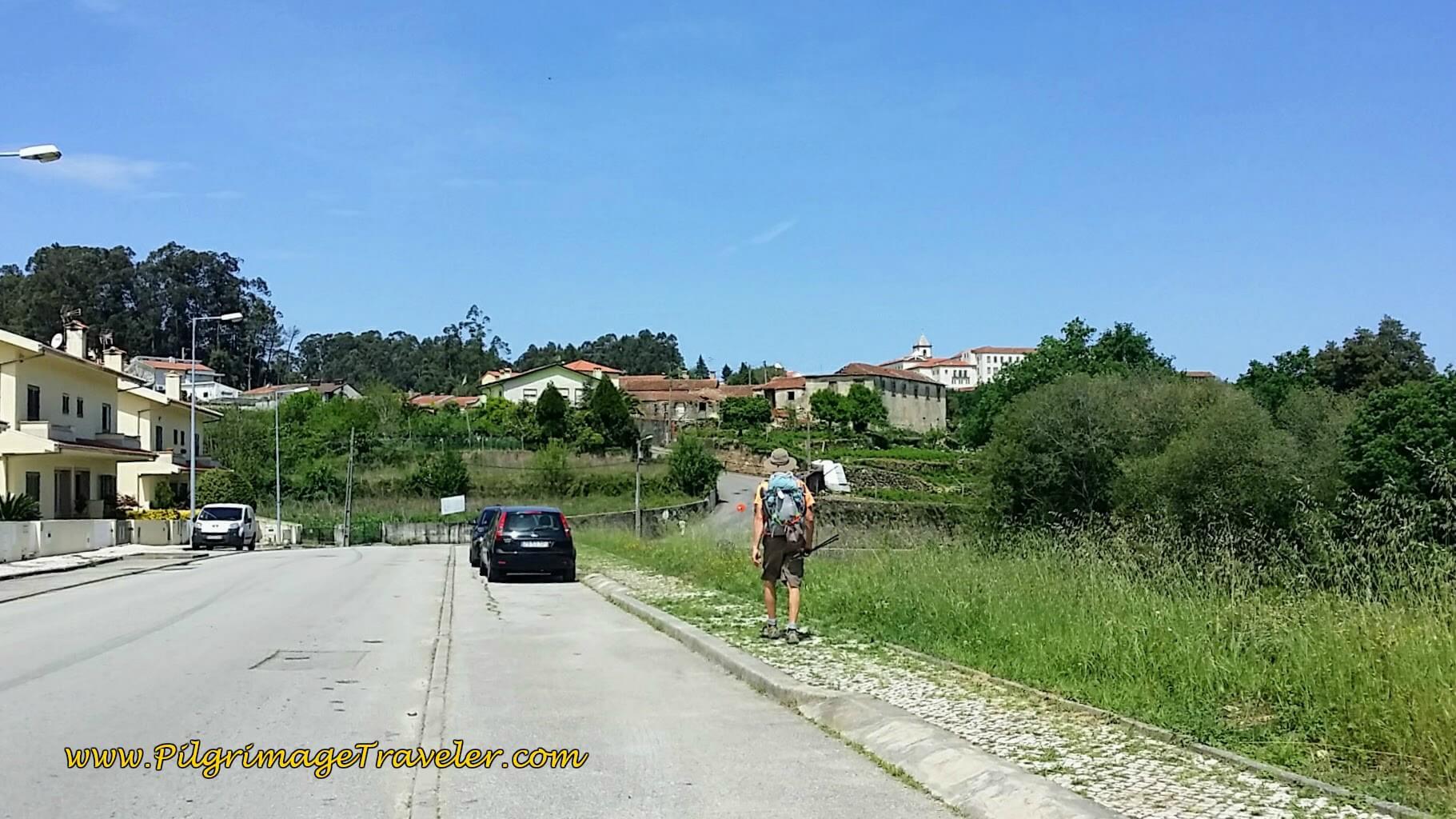 Along the Rua de Riba in Vila de Cucujães on day thirteen of the Camino Portugués