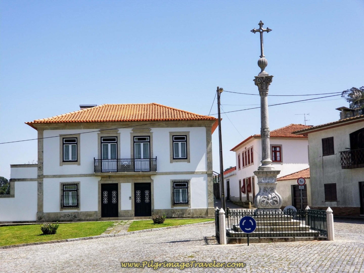 Turn Right at Town Cross on day fifteen on the Central Route of the Portuguese Way