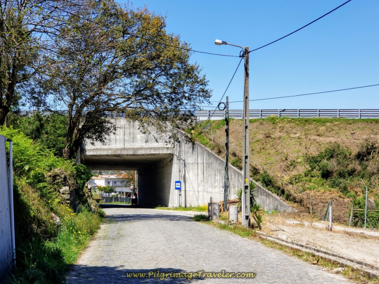 Crossing Under the A11 on day sixteen on the Central Route of the Portuguese Way