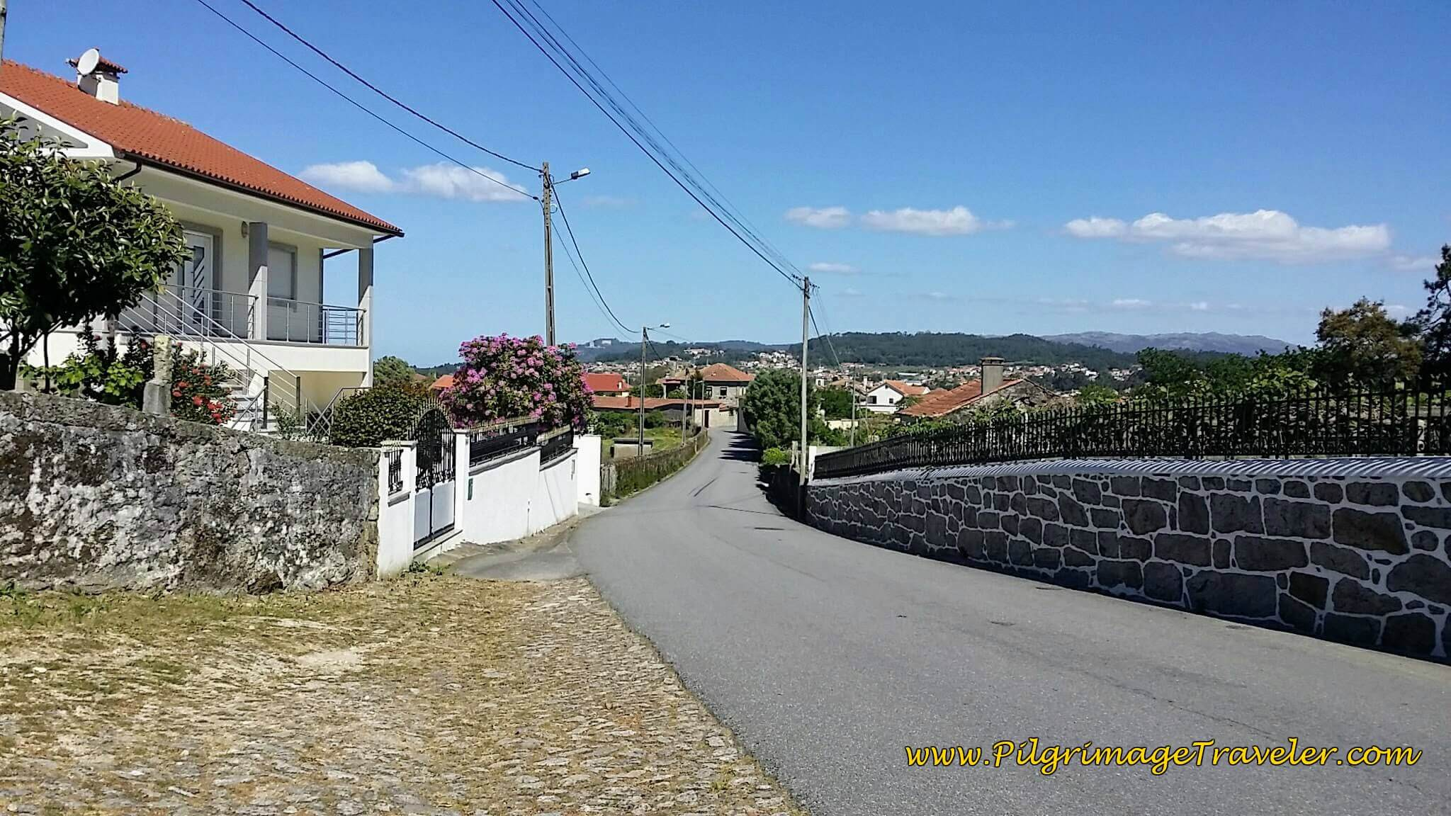 Walking Toward Monte do Sul on day Seventeen of the Camino Portugués