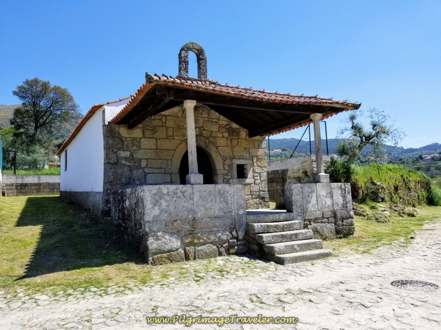 Quaint Chapel on the Caminho de Casais in Facha on day seventeen on the Central Route of the Portuguese Camino