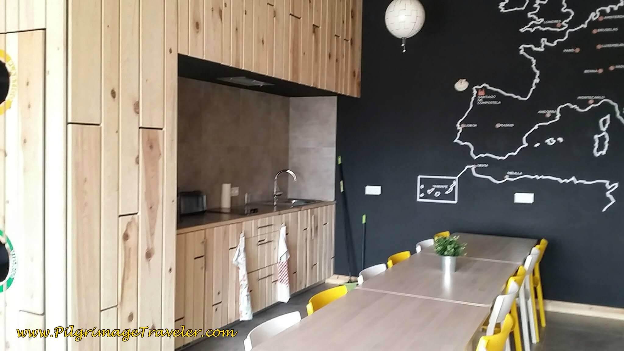 Kitchen at the Albergue Milladoiro on Day Twenty-Four, Portuguese Camino