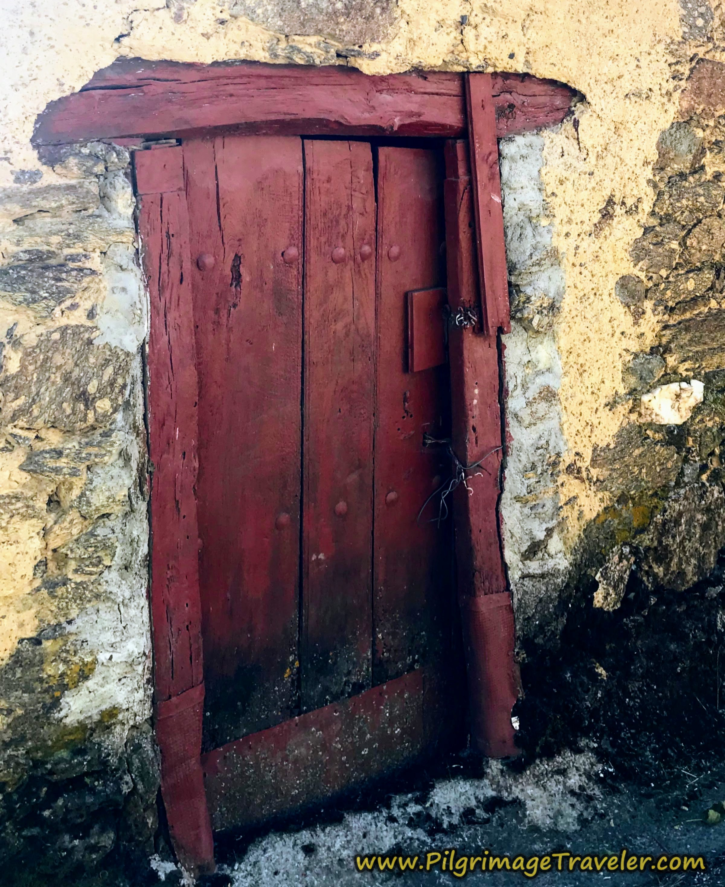 Old Red Door in Entrepeñas