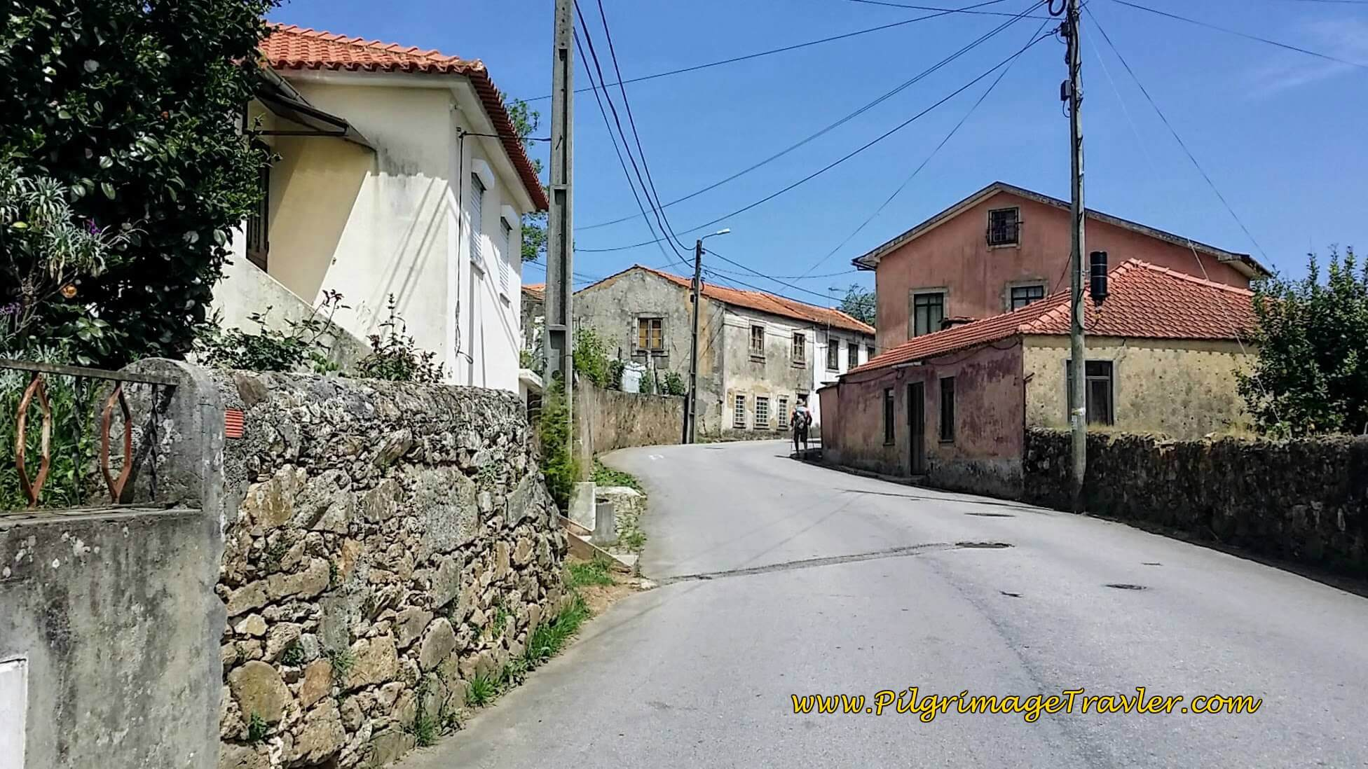 Uphill Walk on the Rua do Ferral on day thirteen of the Portuguese Camino