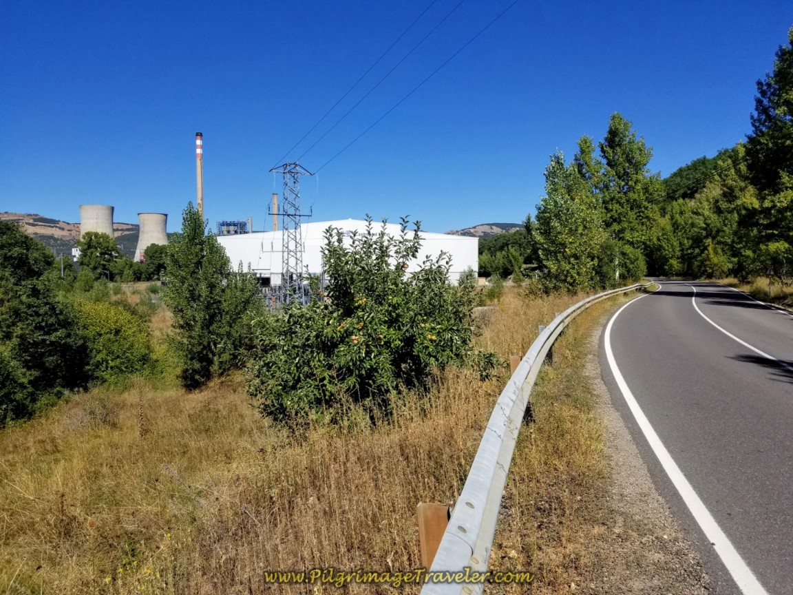 Approaching the White Industrial Building of Endaki Tecnocast