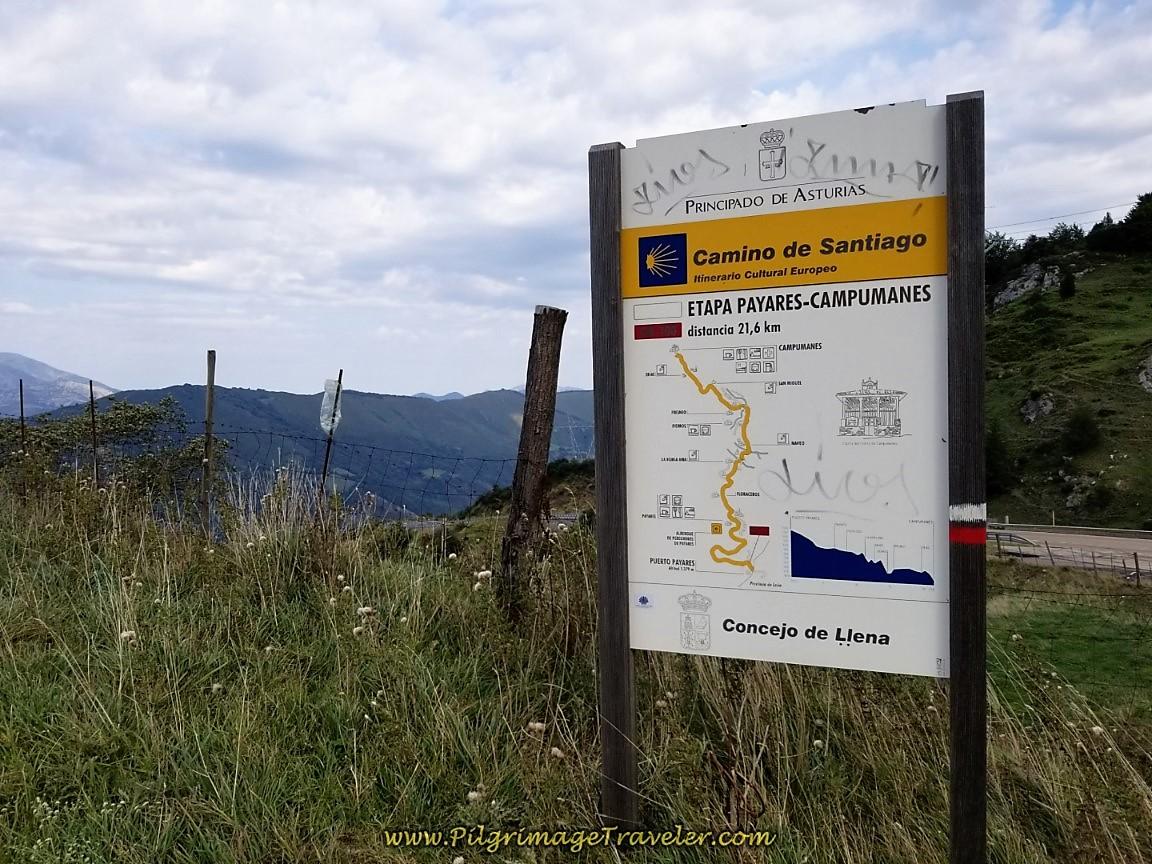 Asturian Camino de San Salvador Information Board