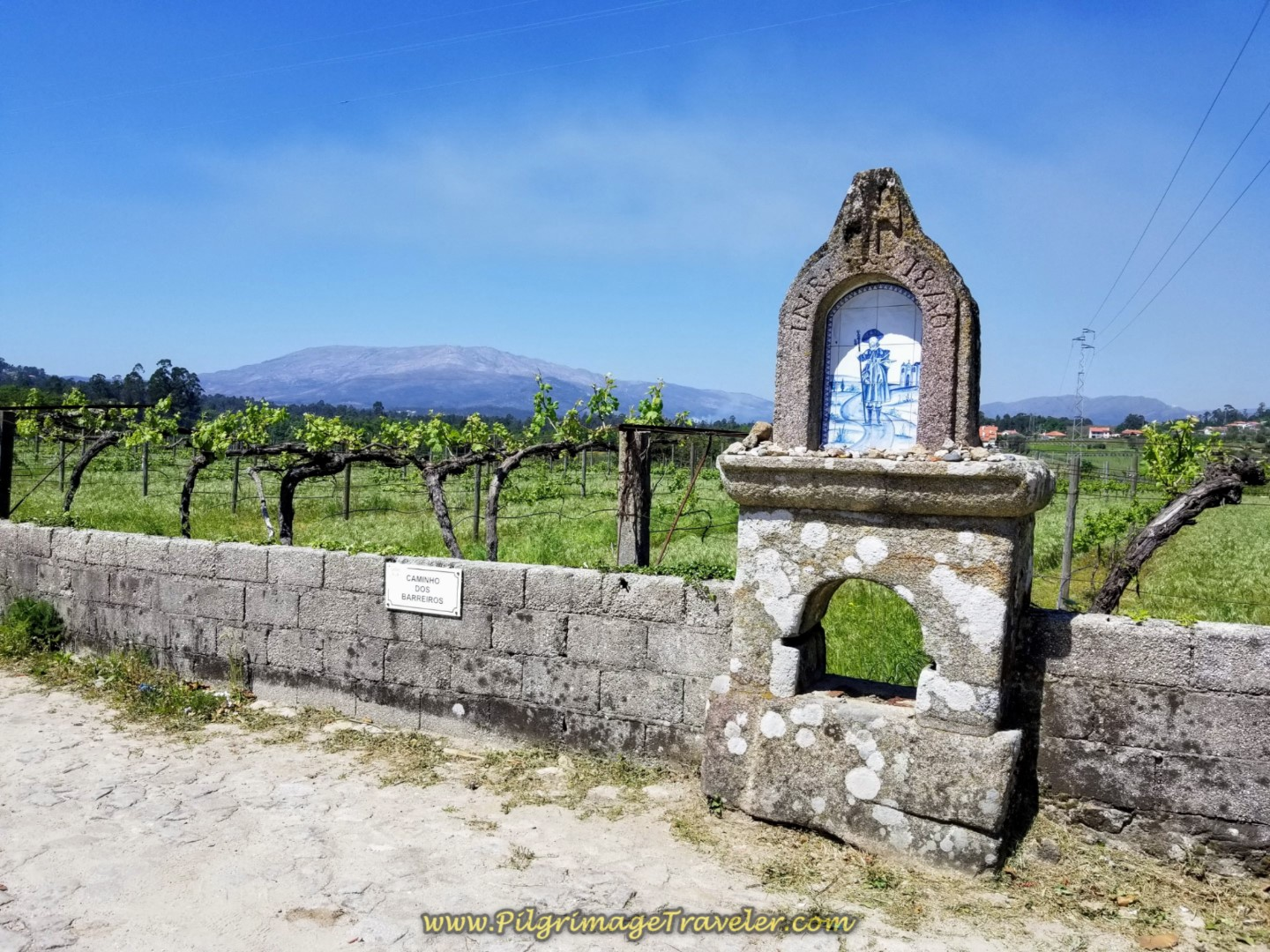 Santiago Shrine by Chapel on the Caminho de Casais in Facha on day seventeen on the Central Route of the Portuguese Camino