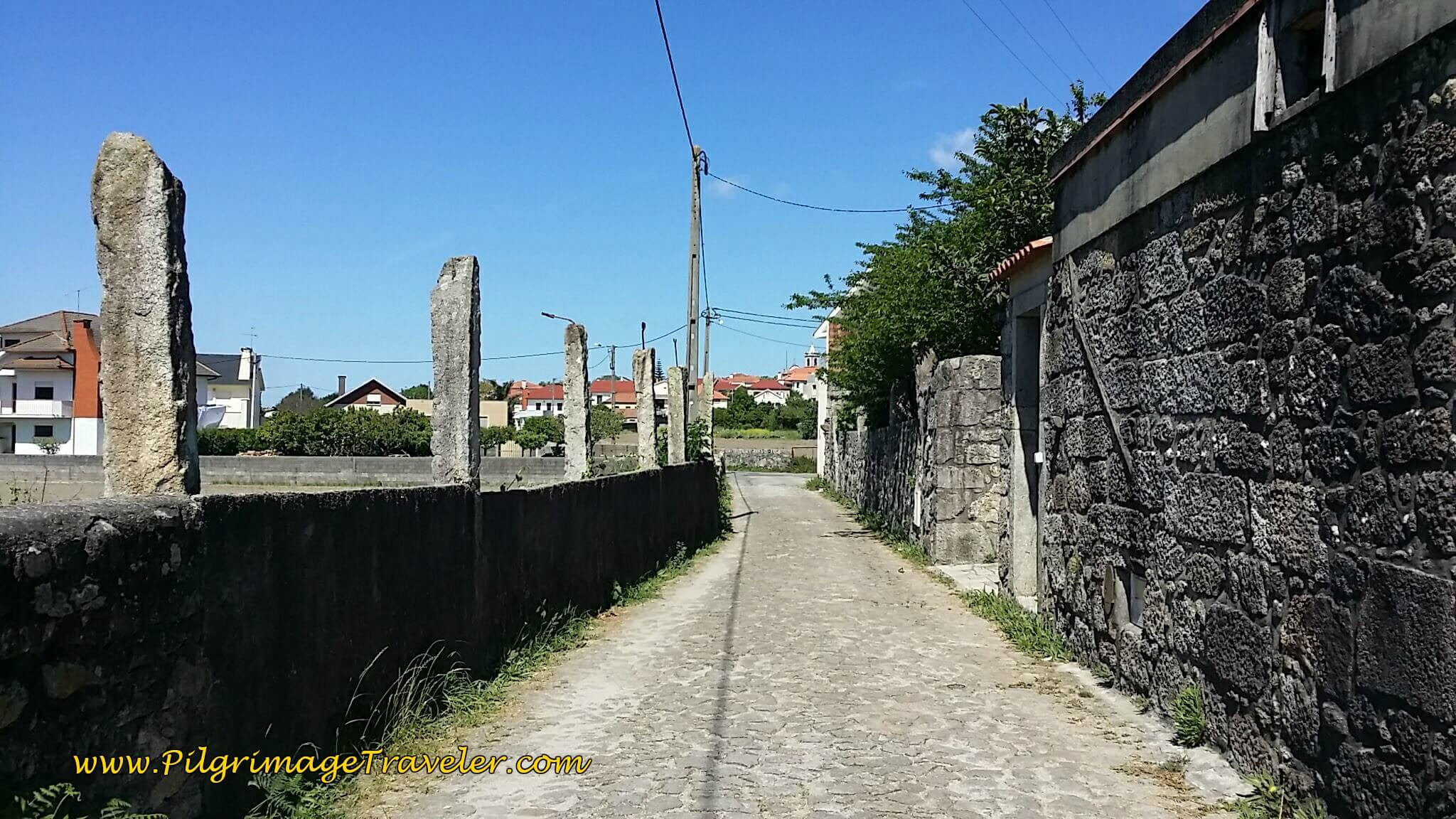 Take the Rua da Casa da Fábrico to the town of Noval on day Seventeen of the Camino Portugués