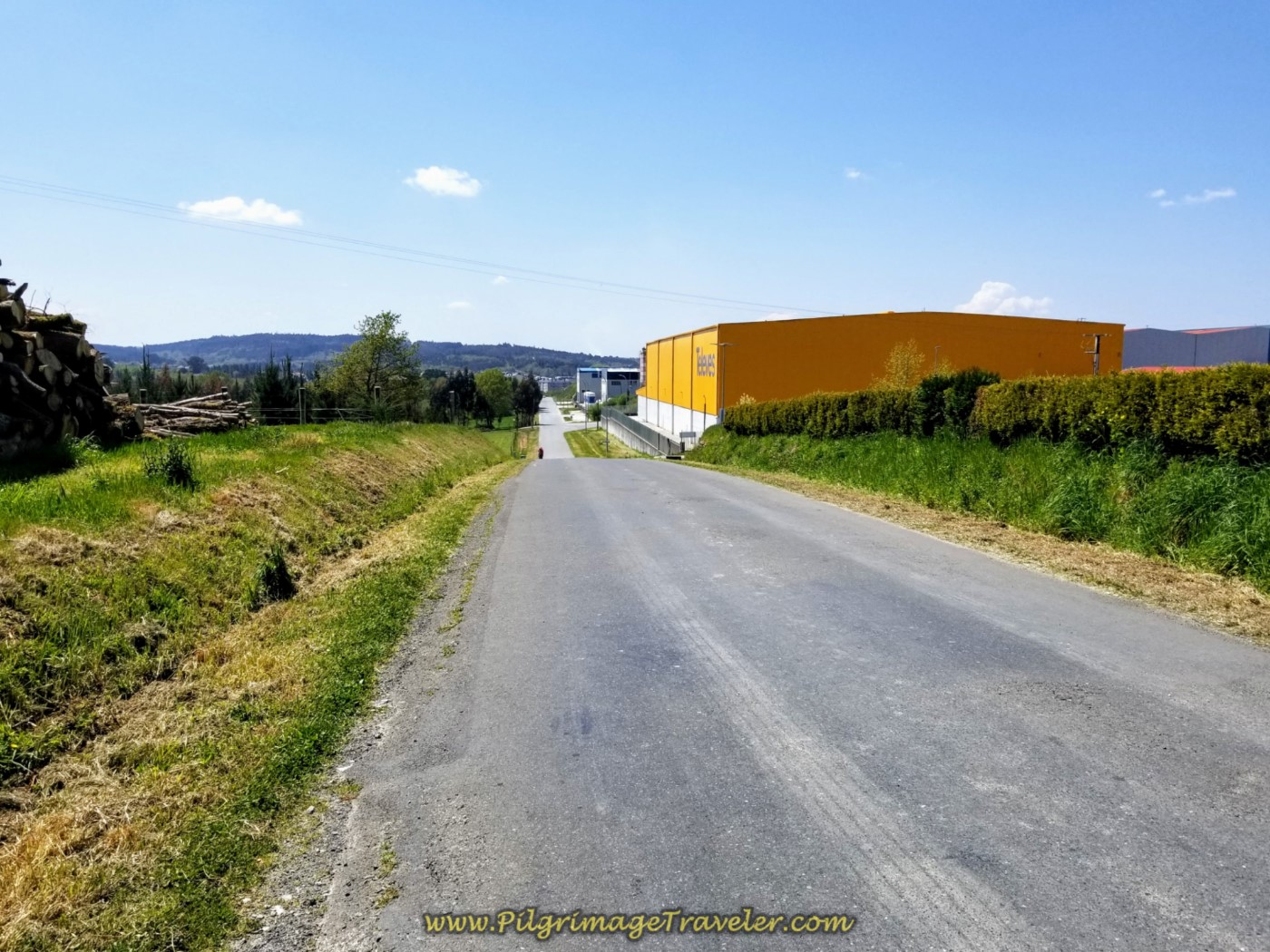 Walk Through Industrial Park of Sigüeiro on the Rúa Ordes on day seven of the English Way