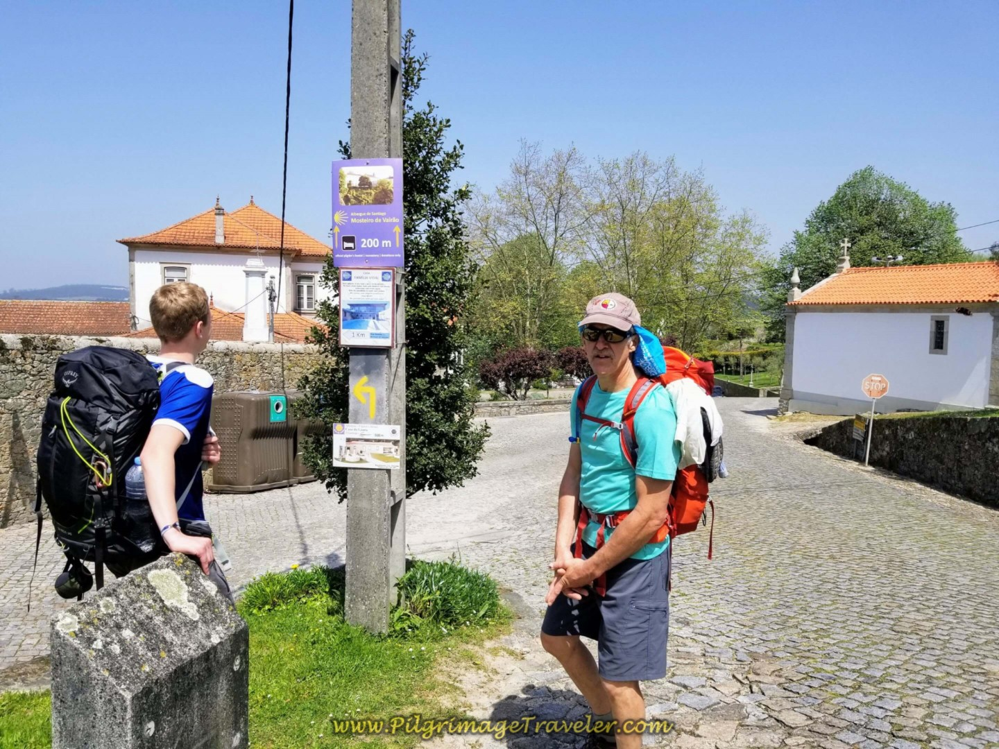 Camino Left, Albergue Straight On on day fifteen on the Central Route of the Portuguese Way