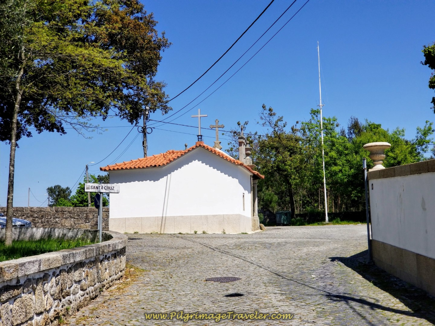 The Chapel in Santa Cruz on day sixteen on the Central Route of the Portuguese Way