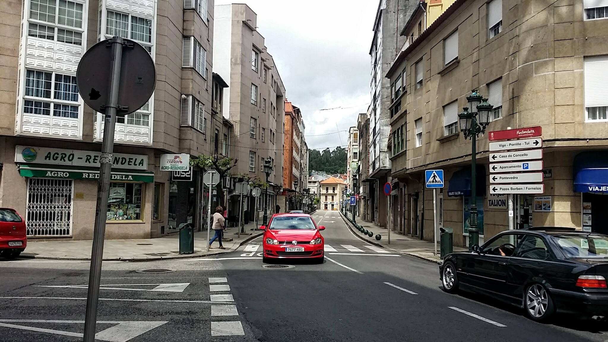 Turn Right at this Intersection in Redondela, Spain on day twenty-one of the Camino Portugués