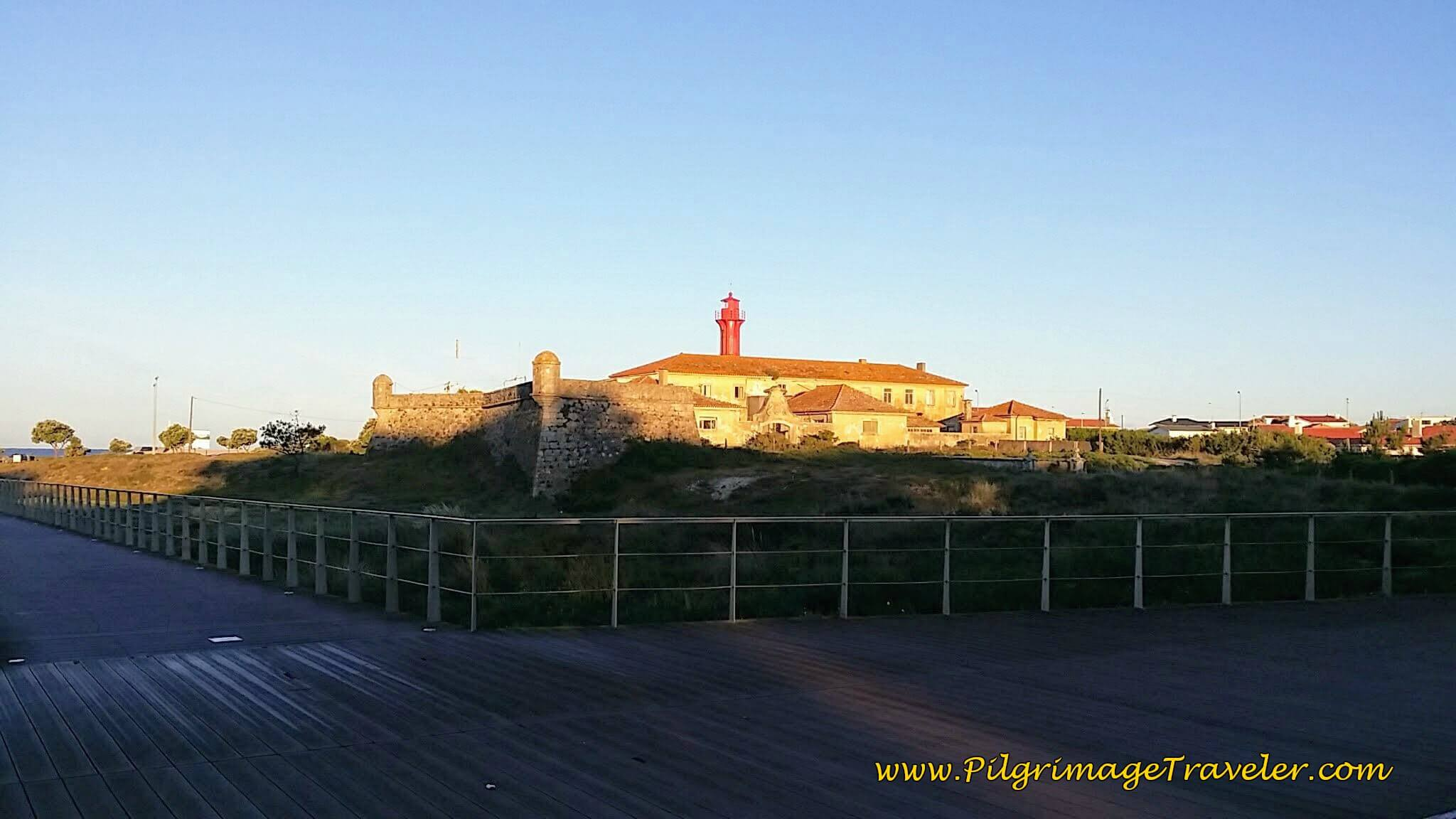 Forte de São João Baptista de Esposende and Lighthouse on day seventeen of the Camino Portugués