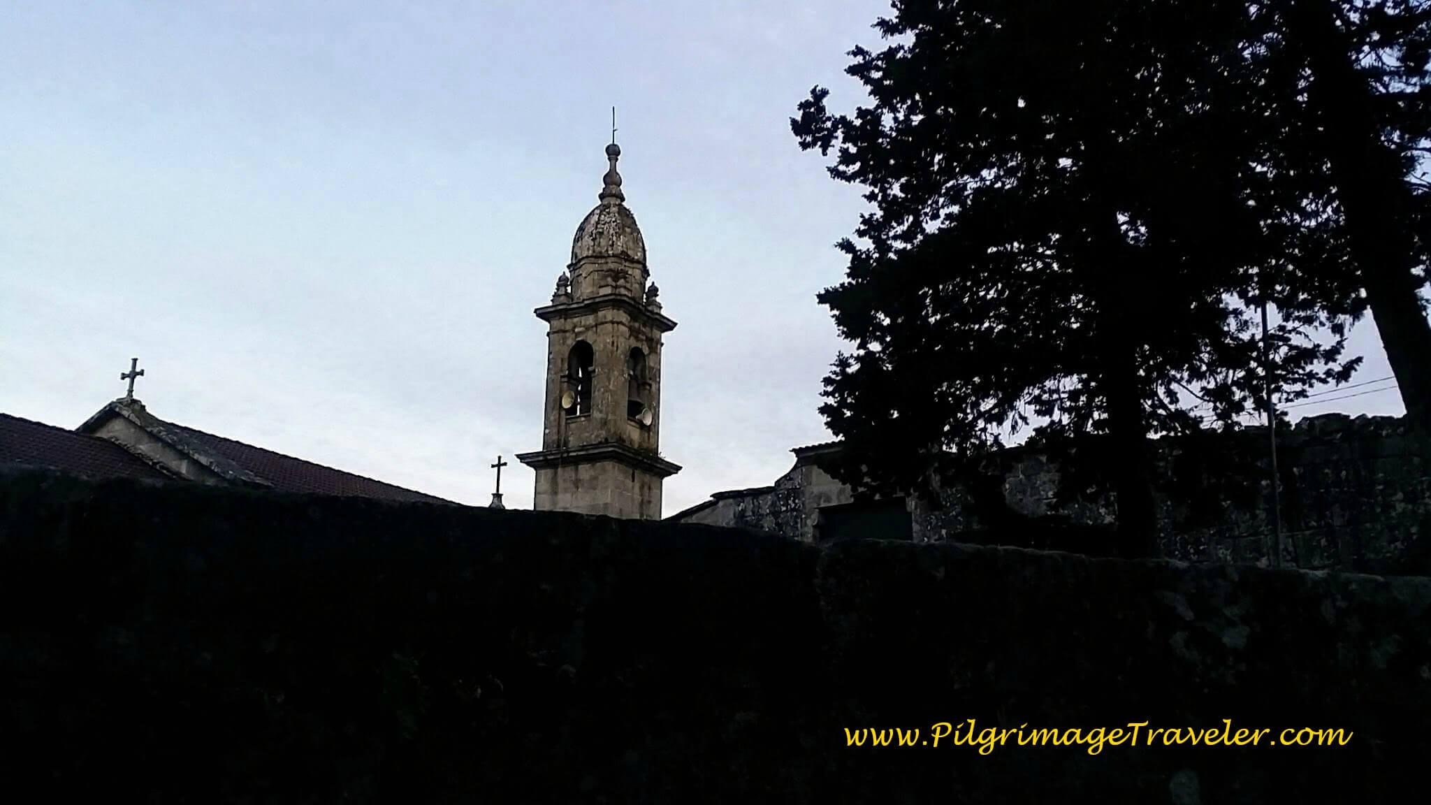 Iglesia Santa Maria Alba Silhouette on day twenty-three, Camino Portugués