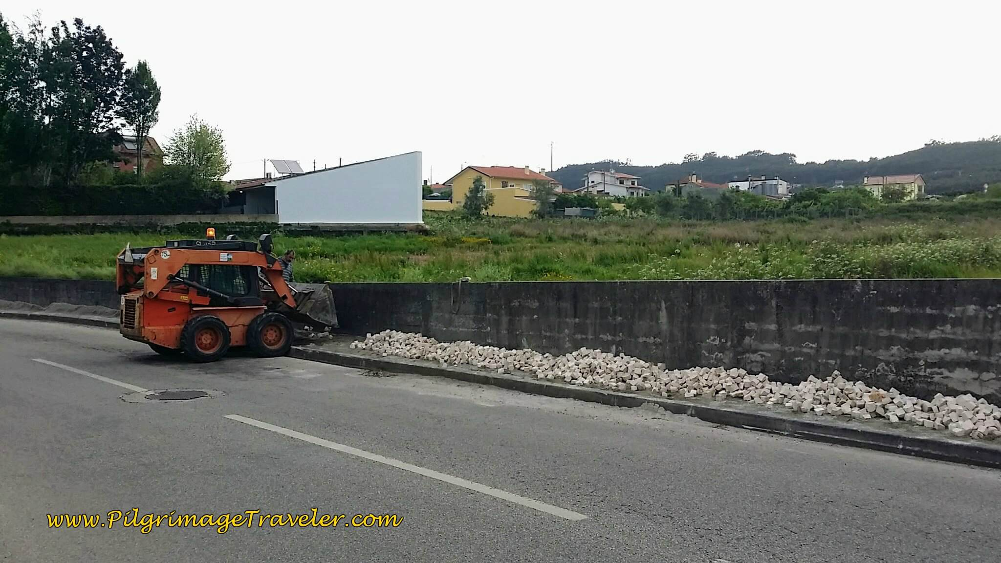 Cobblestone Construction on day thirteen on the Camino Portugués