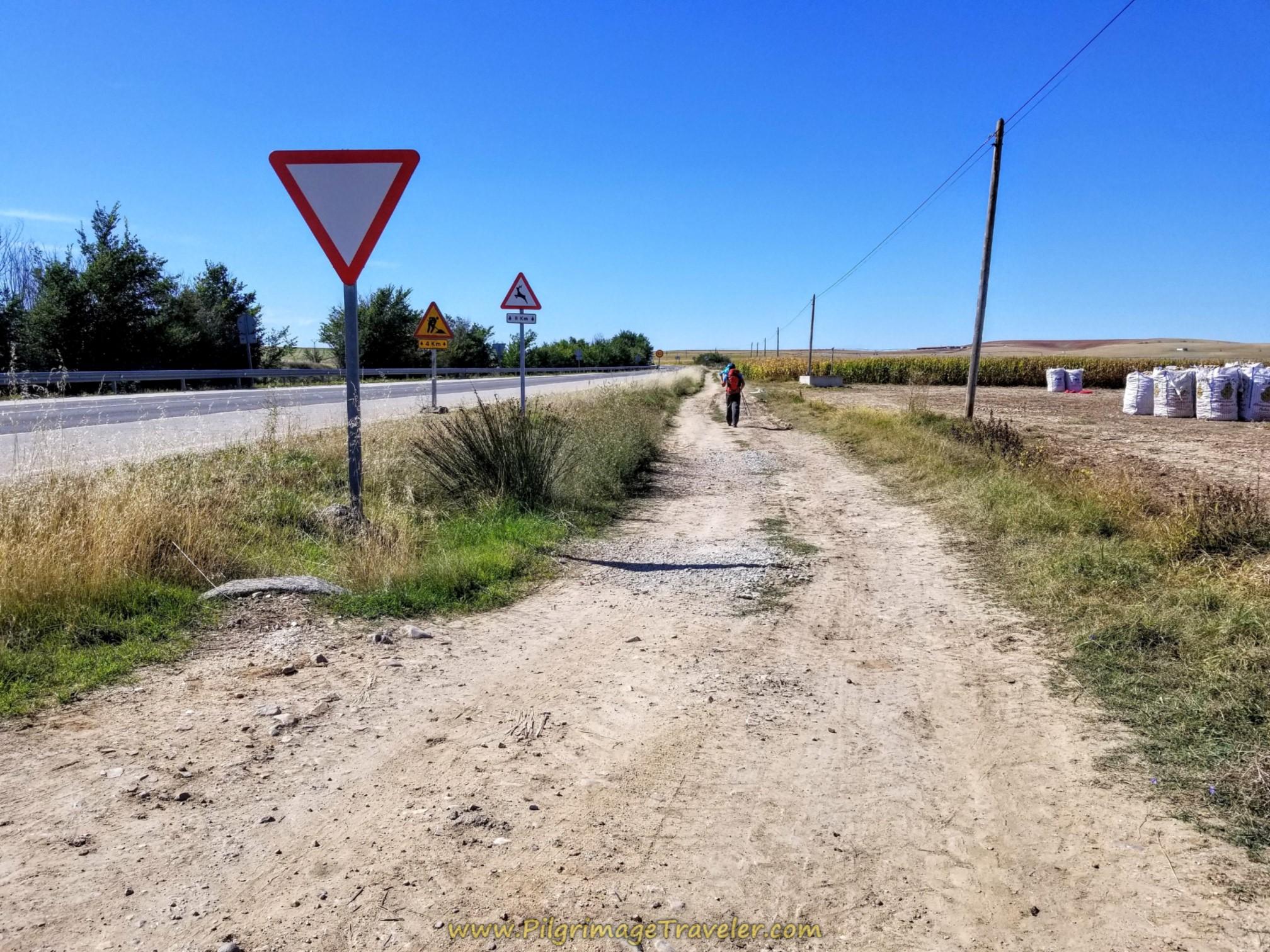 Follow the SA-114 on Frontage Lane