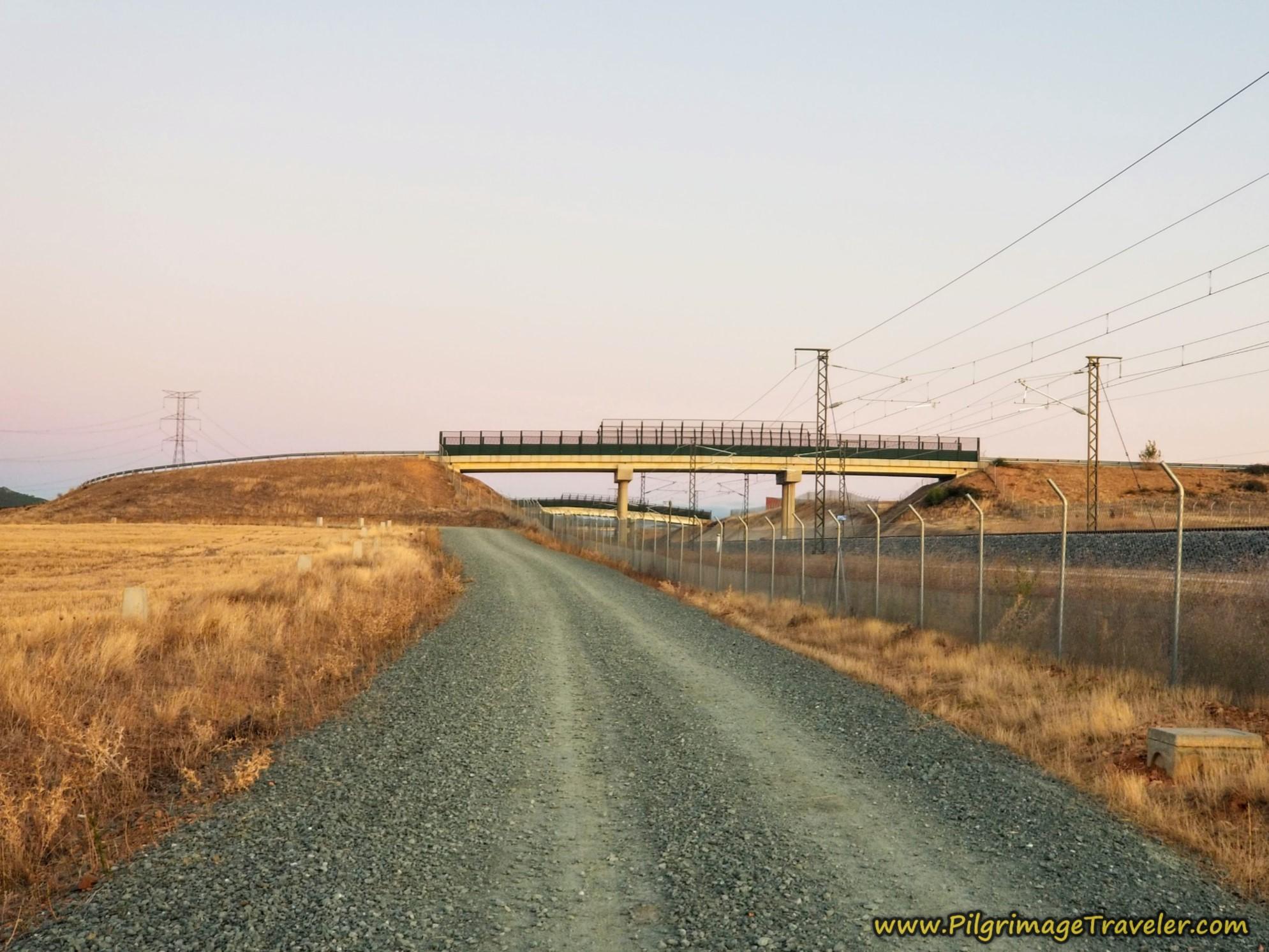 First Railroad Bridge in View