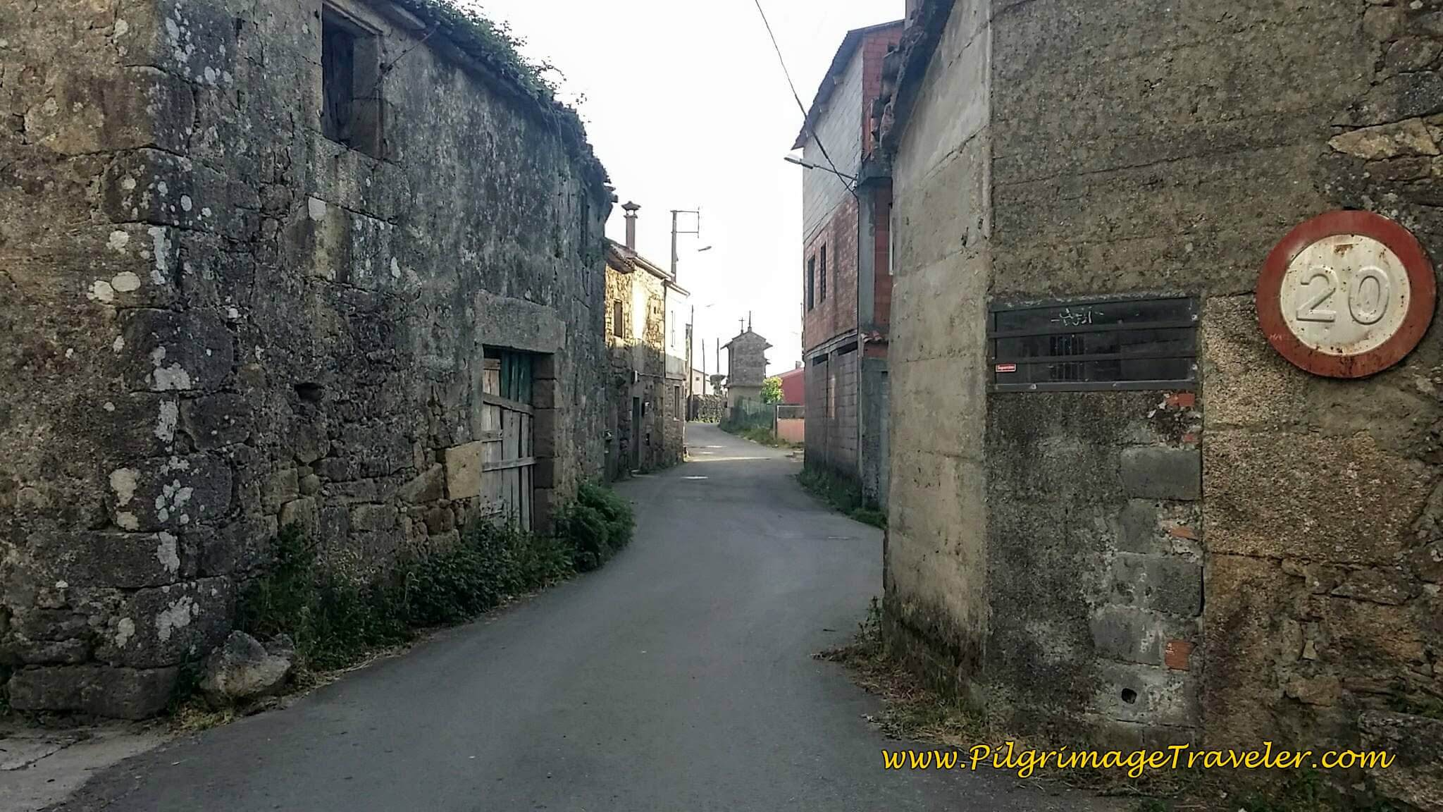 Walking Through O Porto de Conxo on day twenty-five of the Camino Portugués