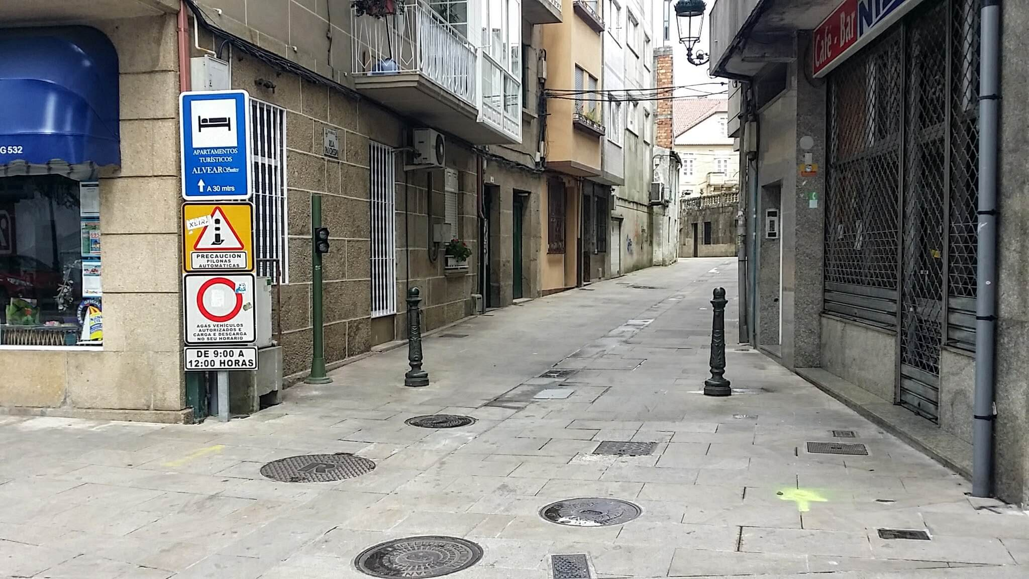 Find Quiet Walking Street, the Rúa Rita Otero, Redondela, Spain on day twenty-one of the Camino Portugués