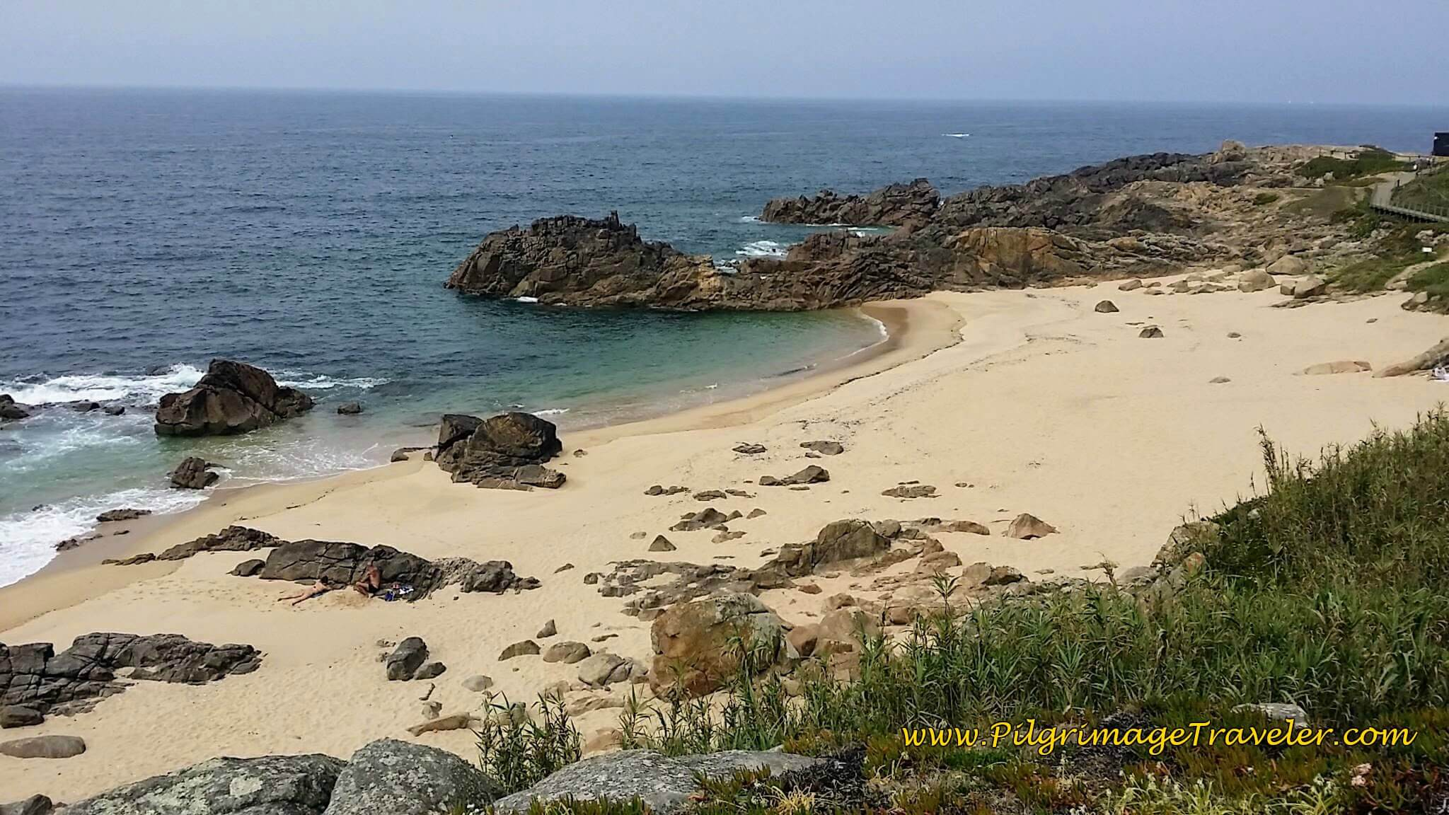 Stunning Cove by the Capela of São Paio on day fifteen of the Camino Portugués on the Senda Litoral