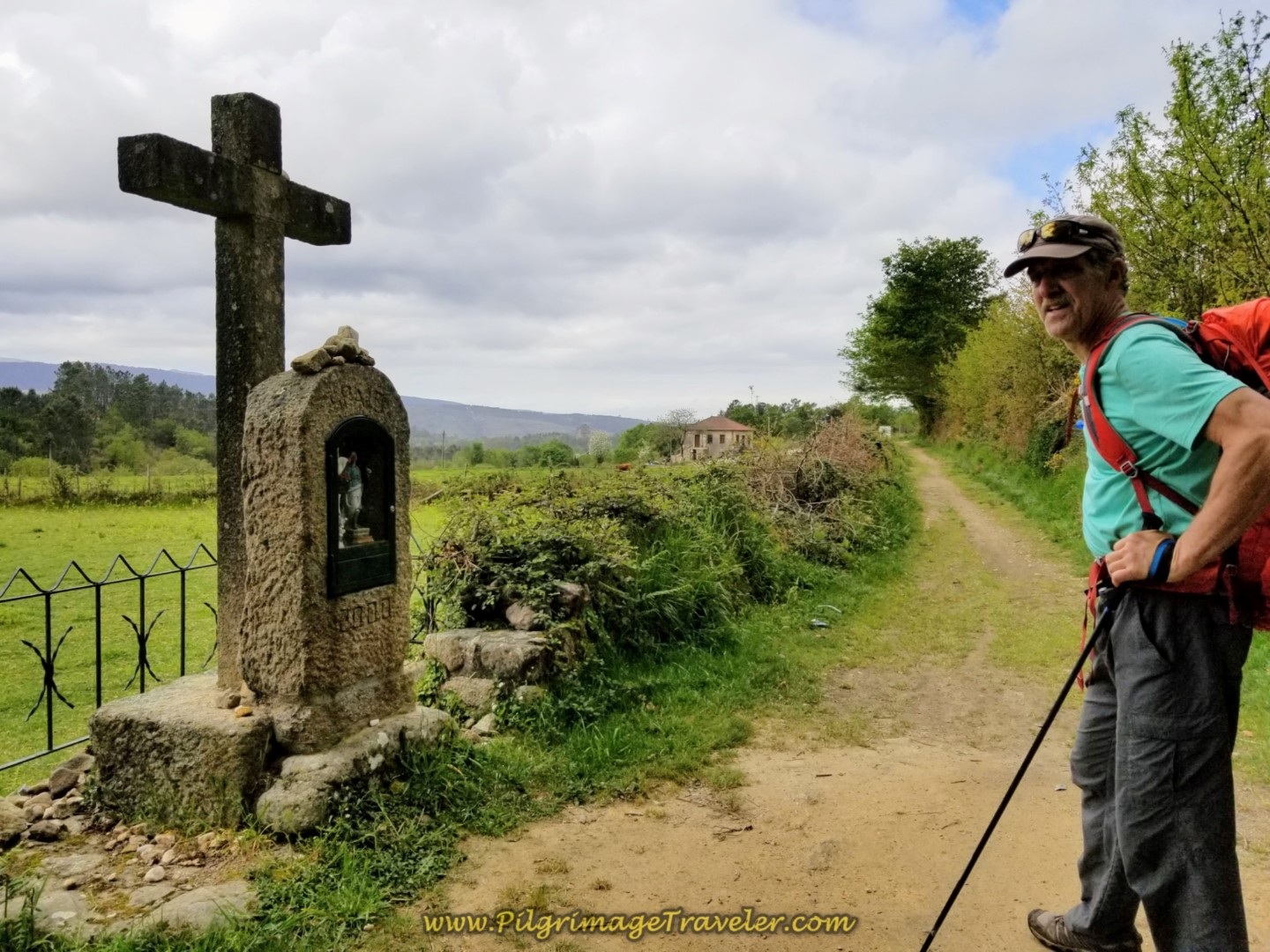 Rich by a Wayside Shrine on day eighteen on the Central Route of the Portuguese Camino