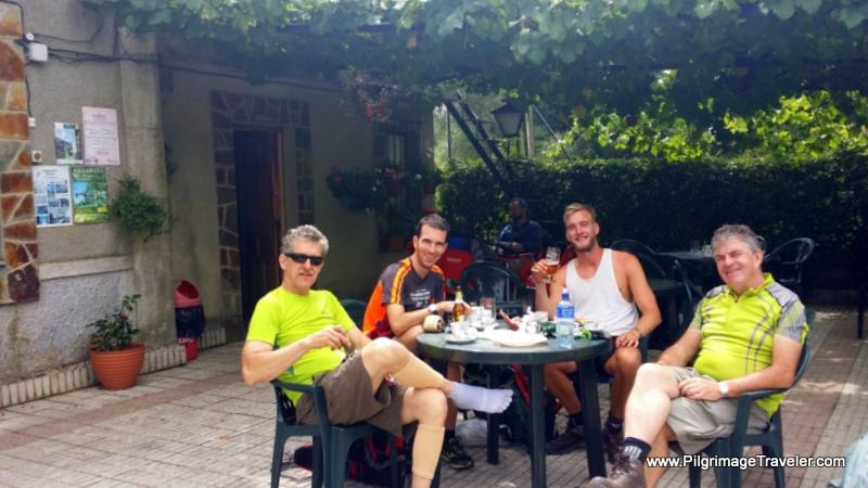 Camino Family at the Bar Casa Serafin in Lago
