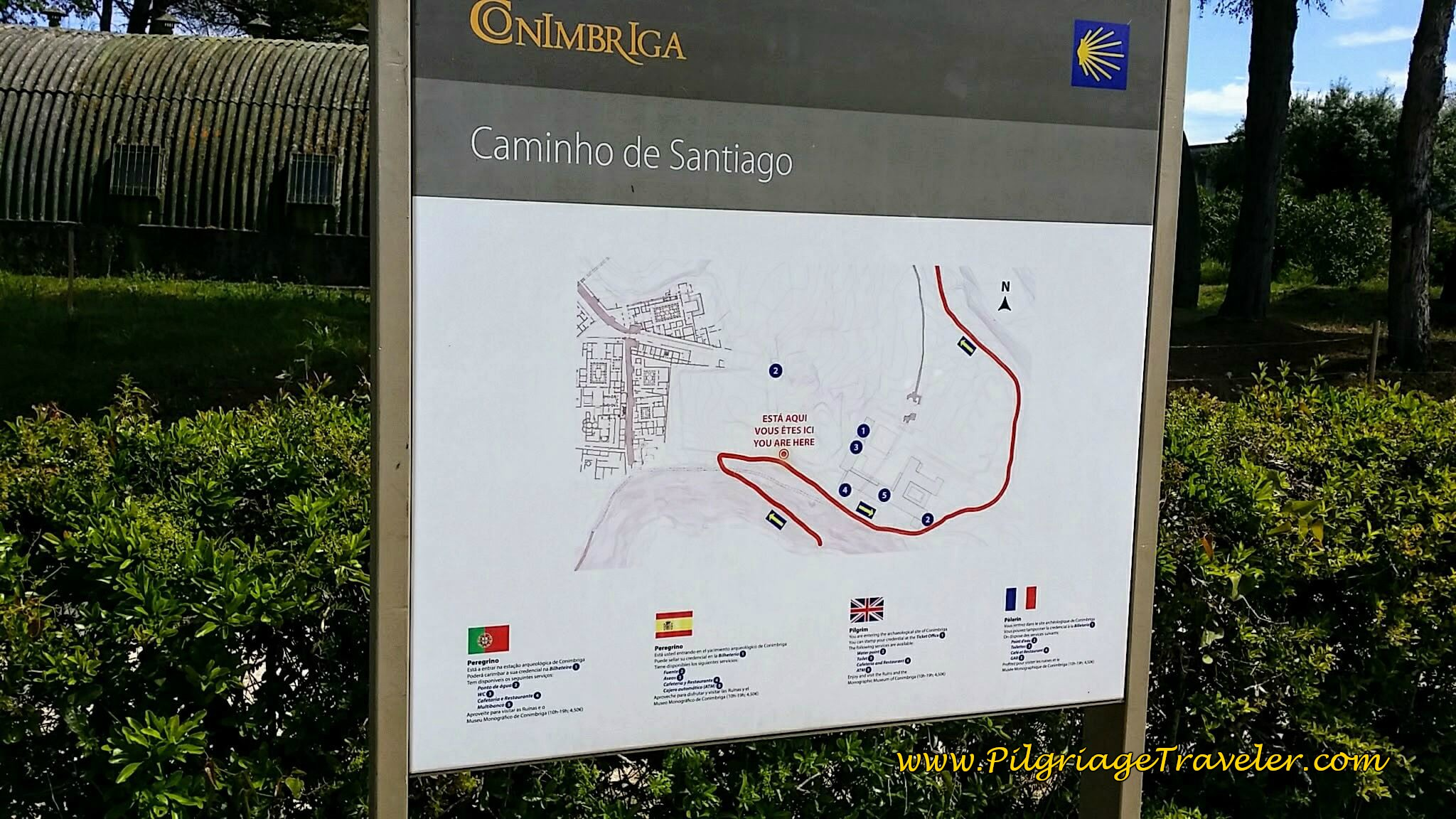 Entering Roman Ruins of Conimbriga